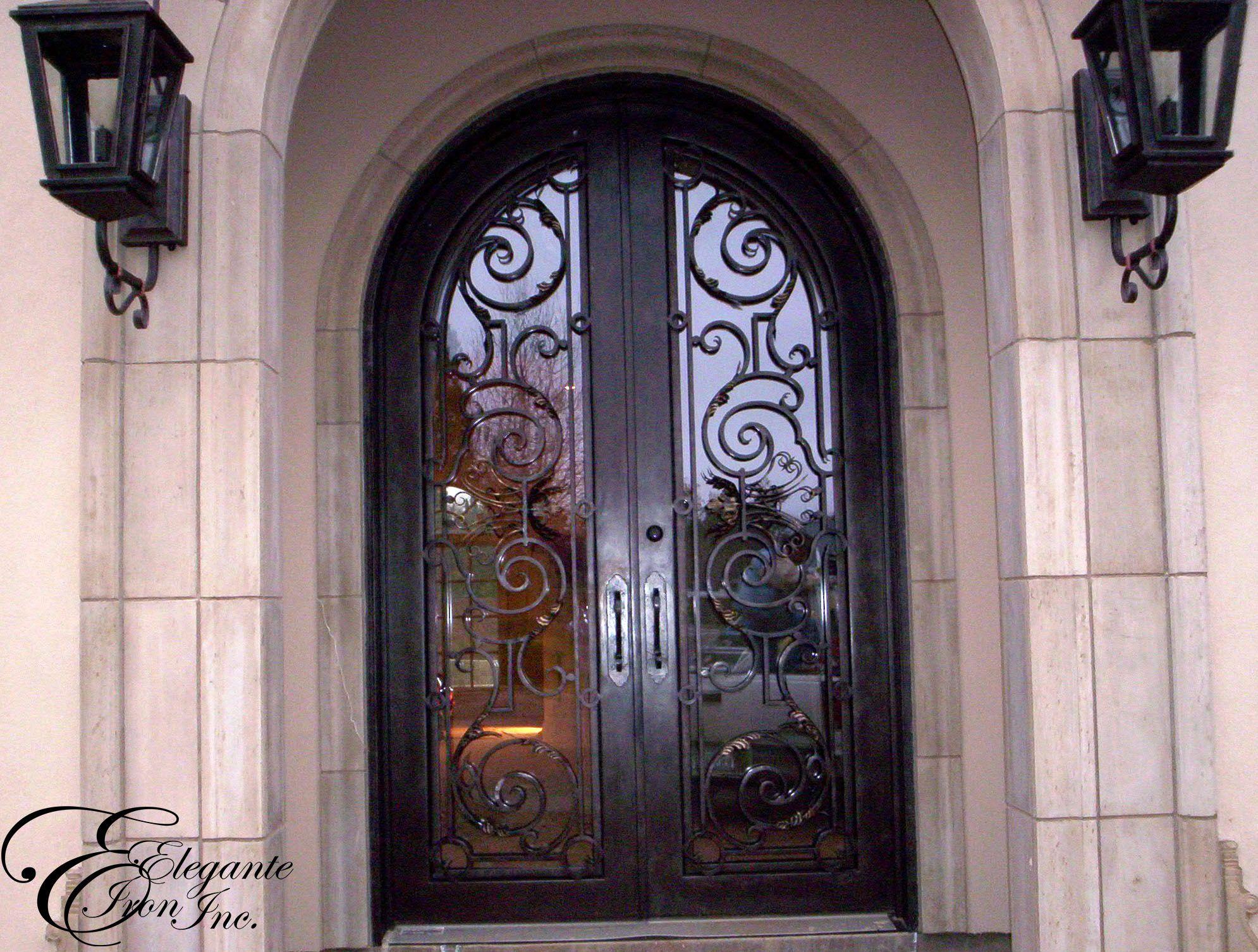 1507 #7D4E51 Custom Wrought Iron Front Door. Custom Entries Pinterest picture/photo Rod Iron Front Doors 43091990