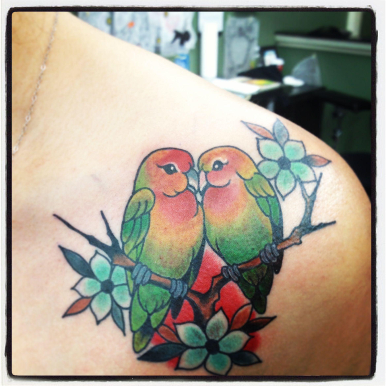 My New Tattoo #lovebirds   Feminine tattoo's   Pinterest