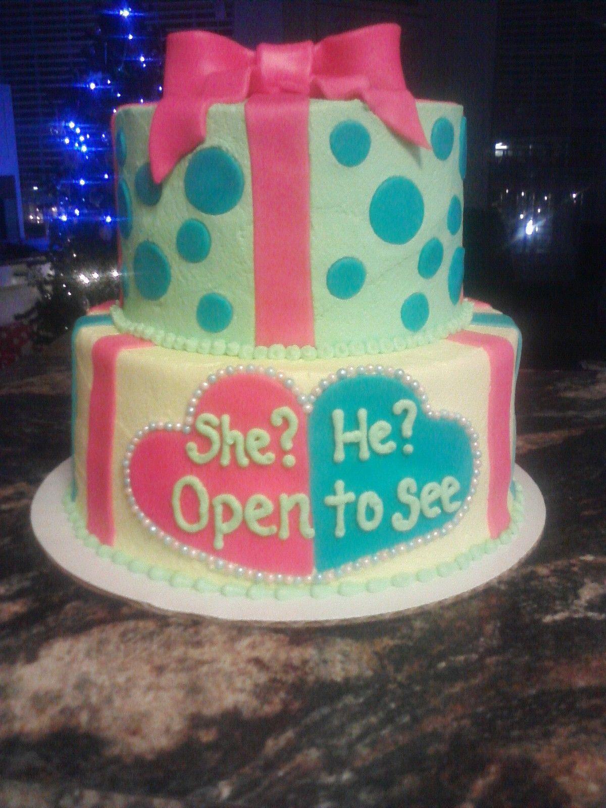 Baby reveal cake :) | Baby | Pinterest