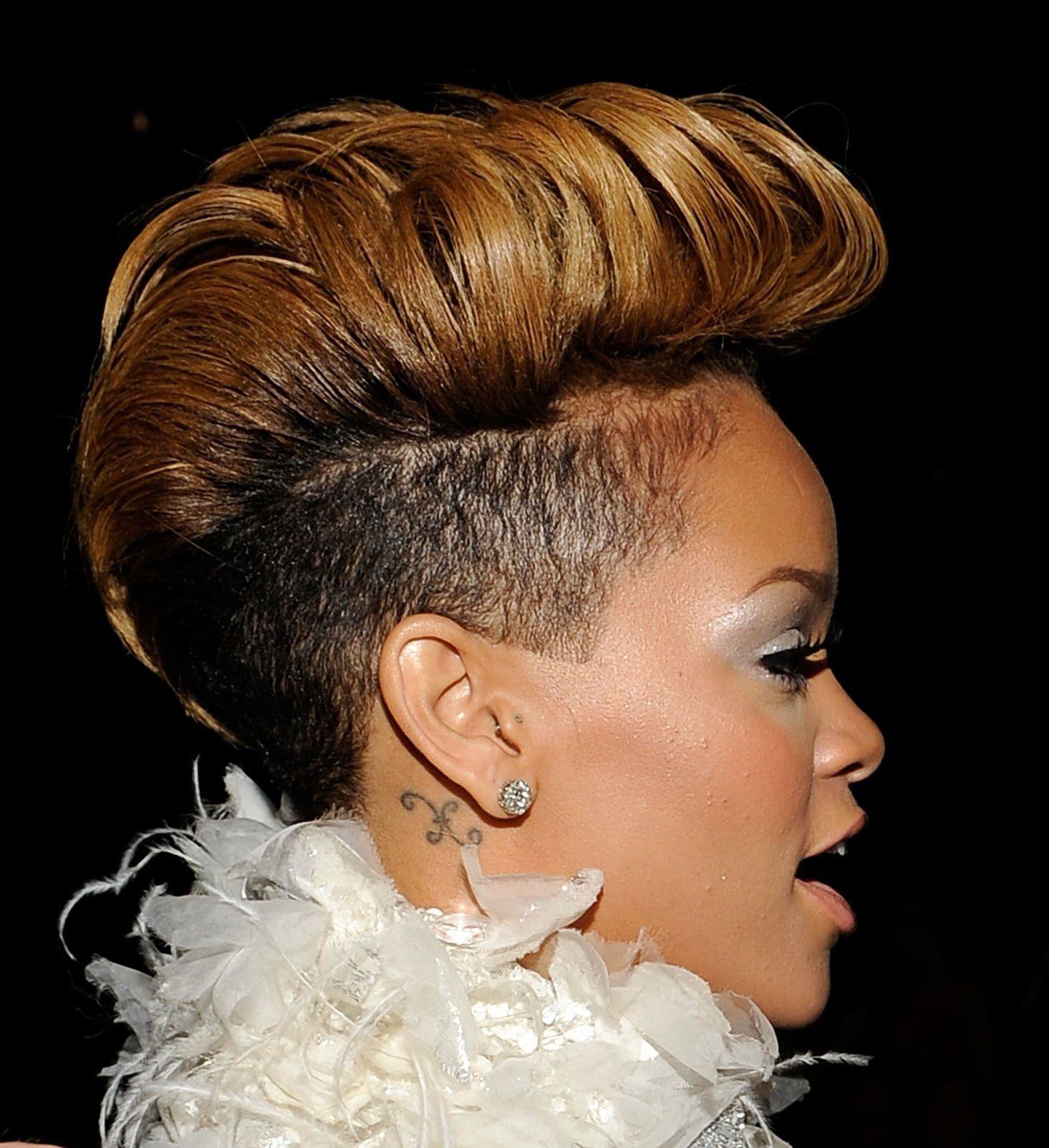 Mohawk Rihanna Hair Cut