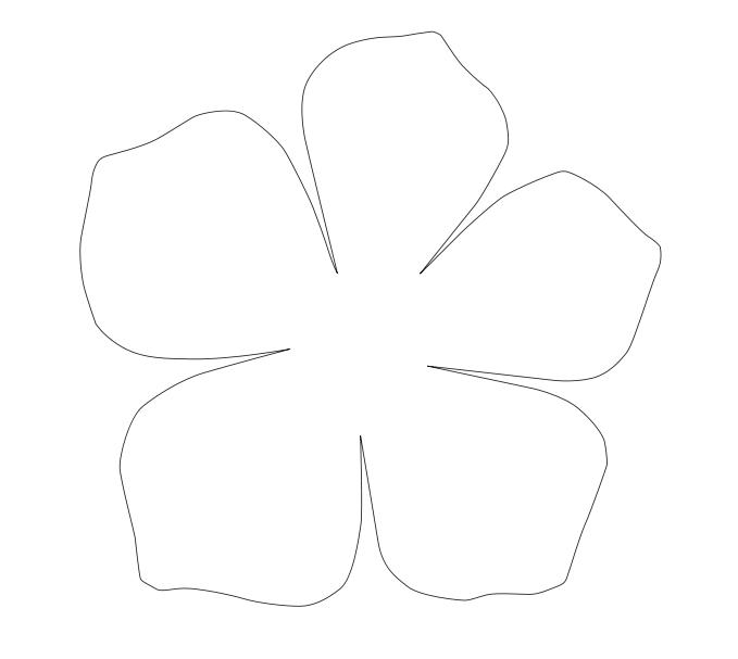 Схема цветка для вырезания из бумаги