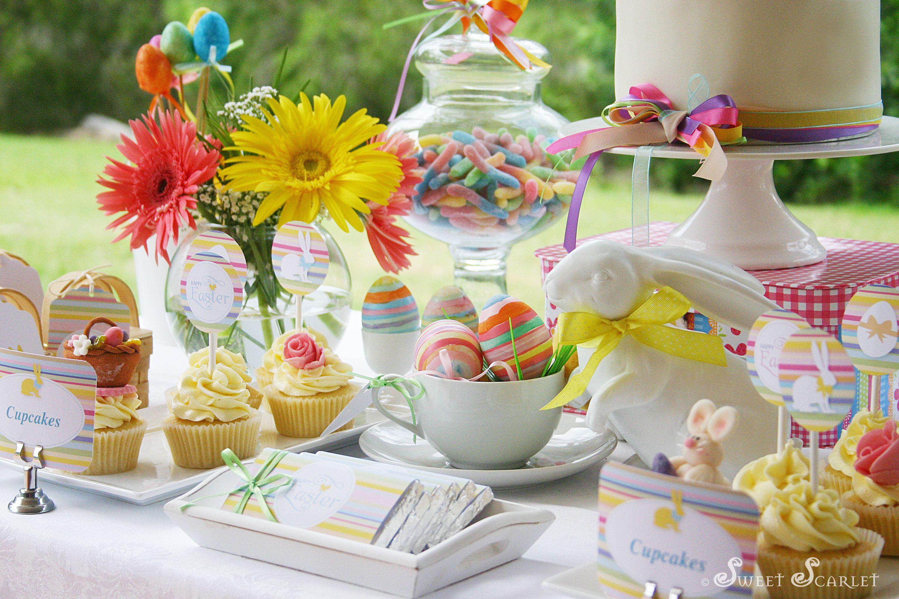 easter dessert table printables holiday easter pinterest