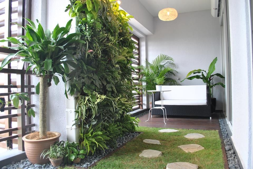 Balcony vertical garden interior decorating pinterest for Balcony vertical garden