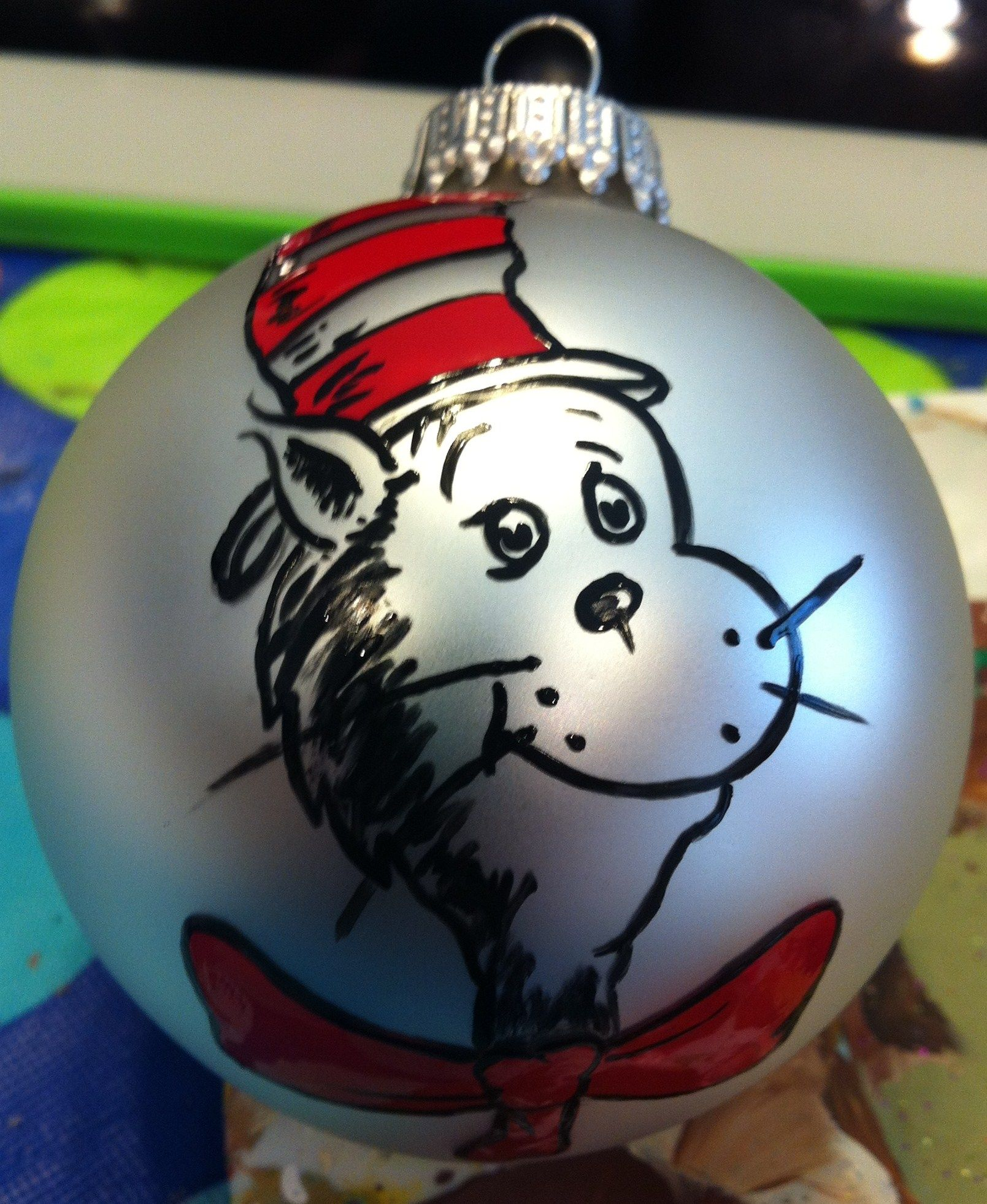 Cat in the hat ornaments - Cat