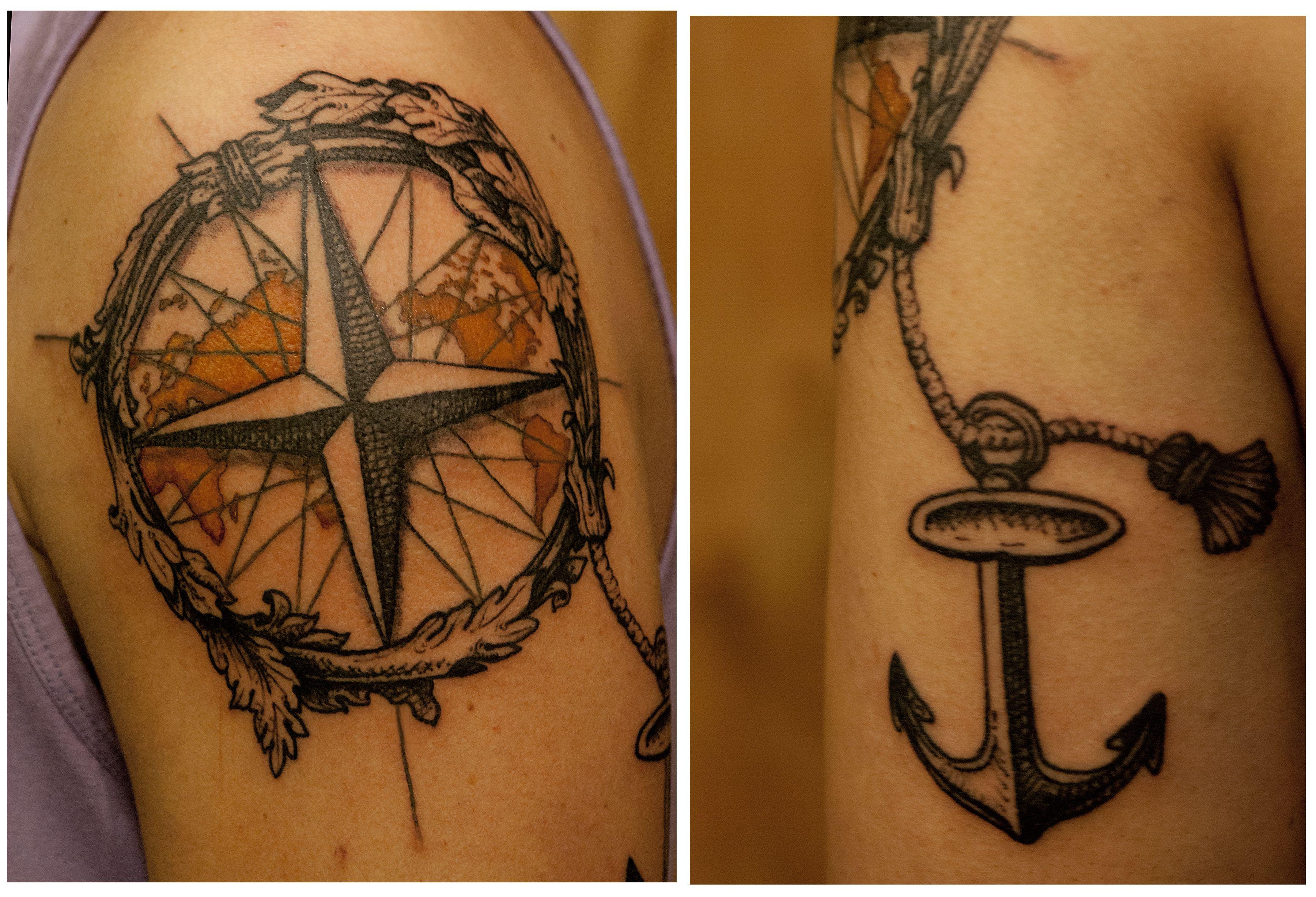 Tatouage bras rose des vents par galata tattoo quotes - Rose des vents tattoo ...