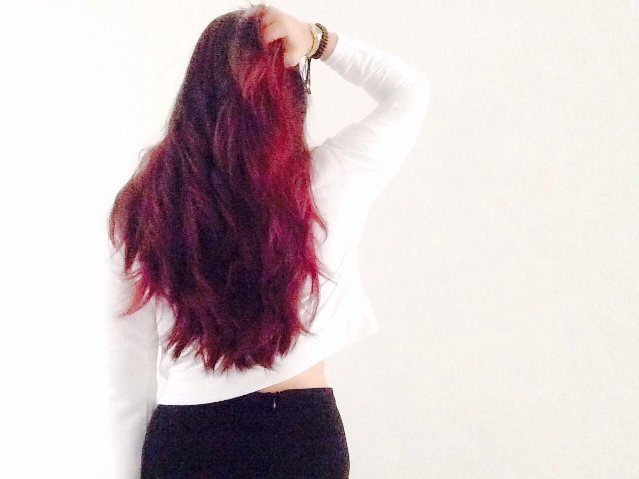 Red burgundy ombre hair pinterest - Ombre hair marron ...