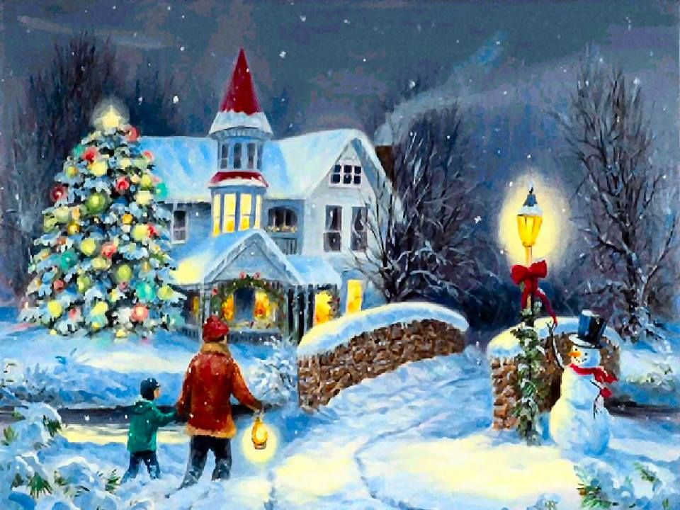 wallpapers noel paysage christmas - photo #4