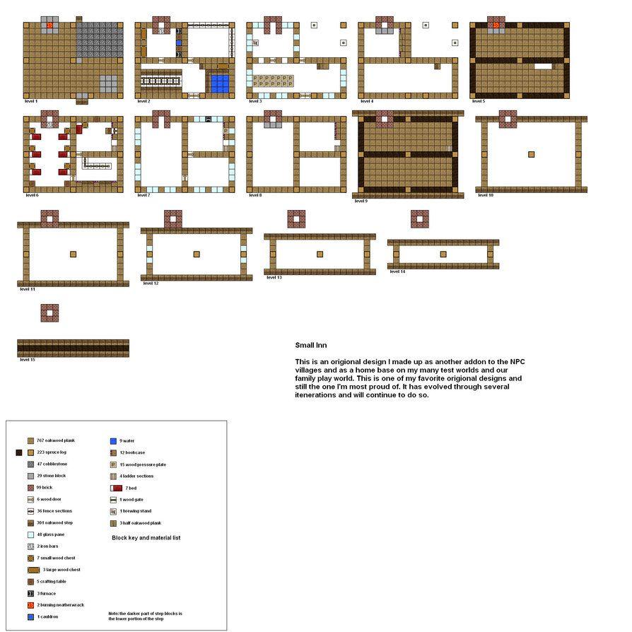 Modern house minecraft схемы