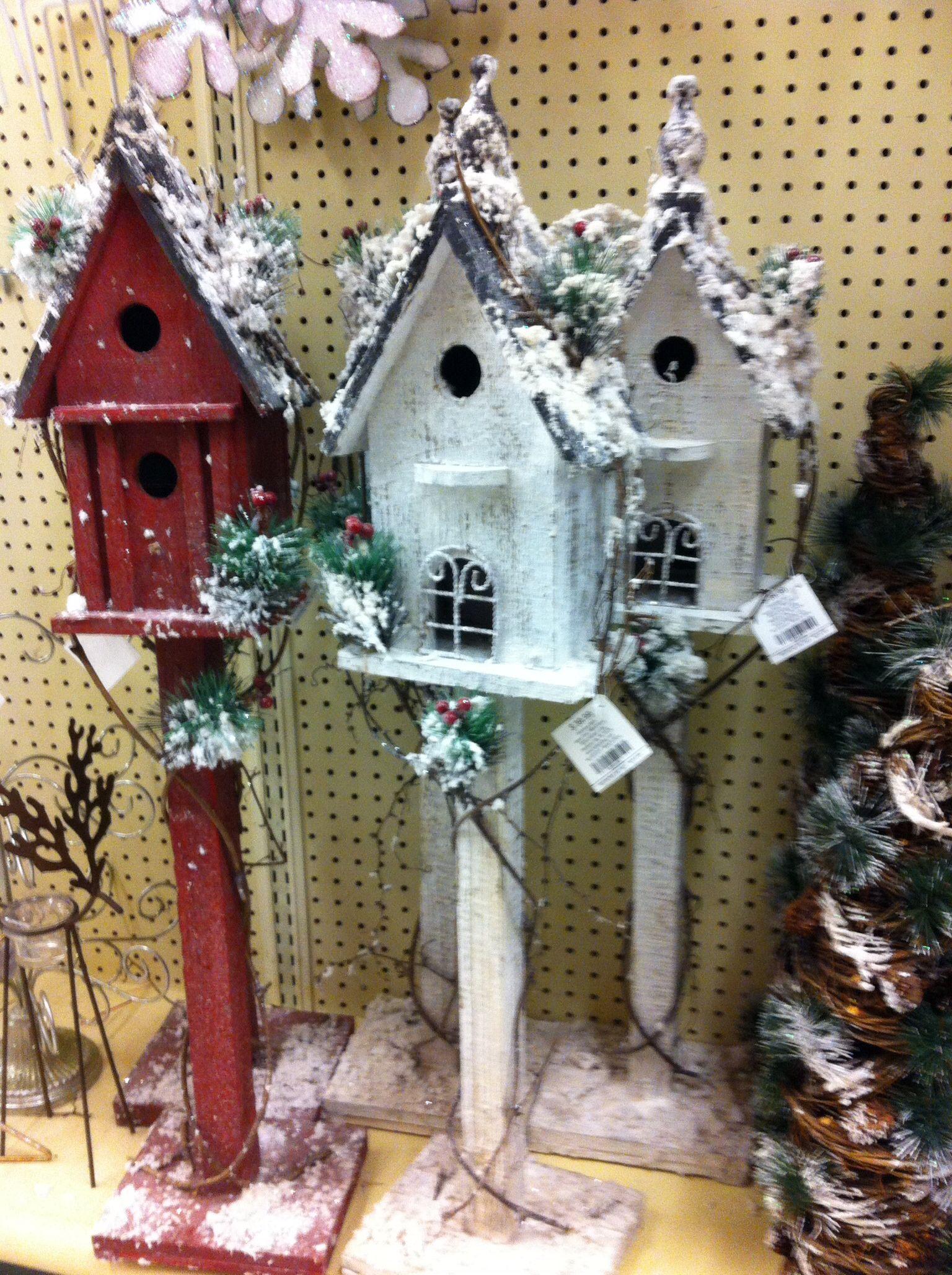 Top 28 christmas bird house christmas bird house love for Bird decorations for home