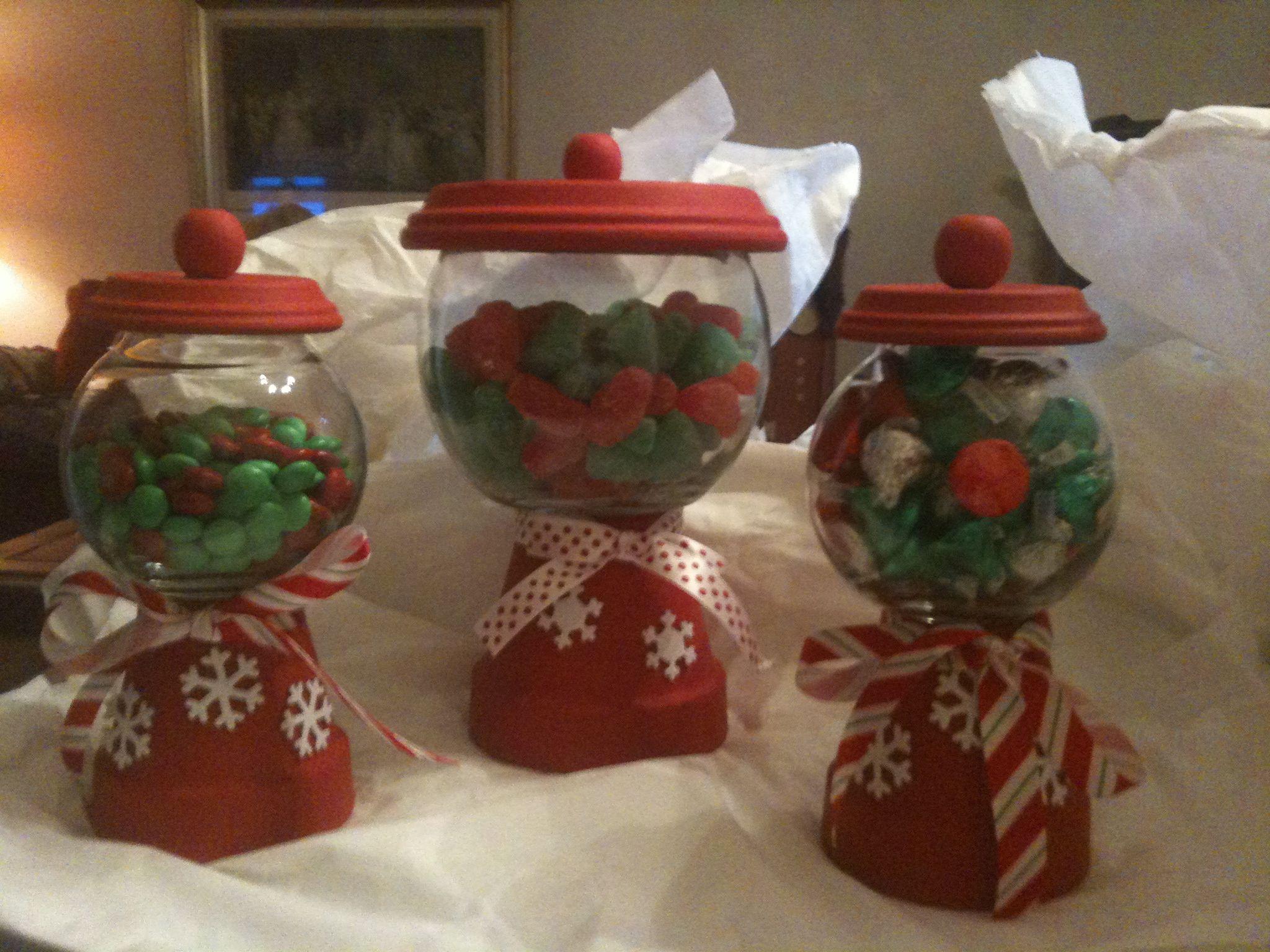 Homemade christmas candy jars homeade christmas pinterest for Homemade christmas candy gift ideas