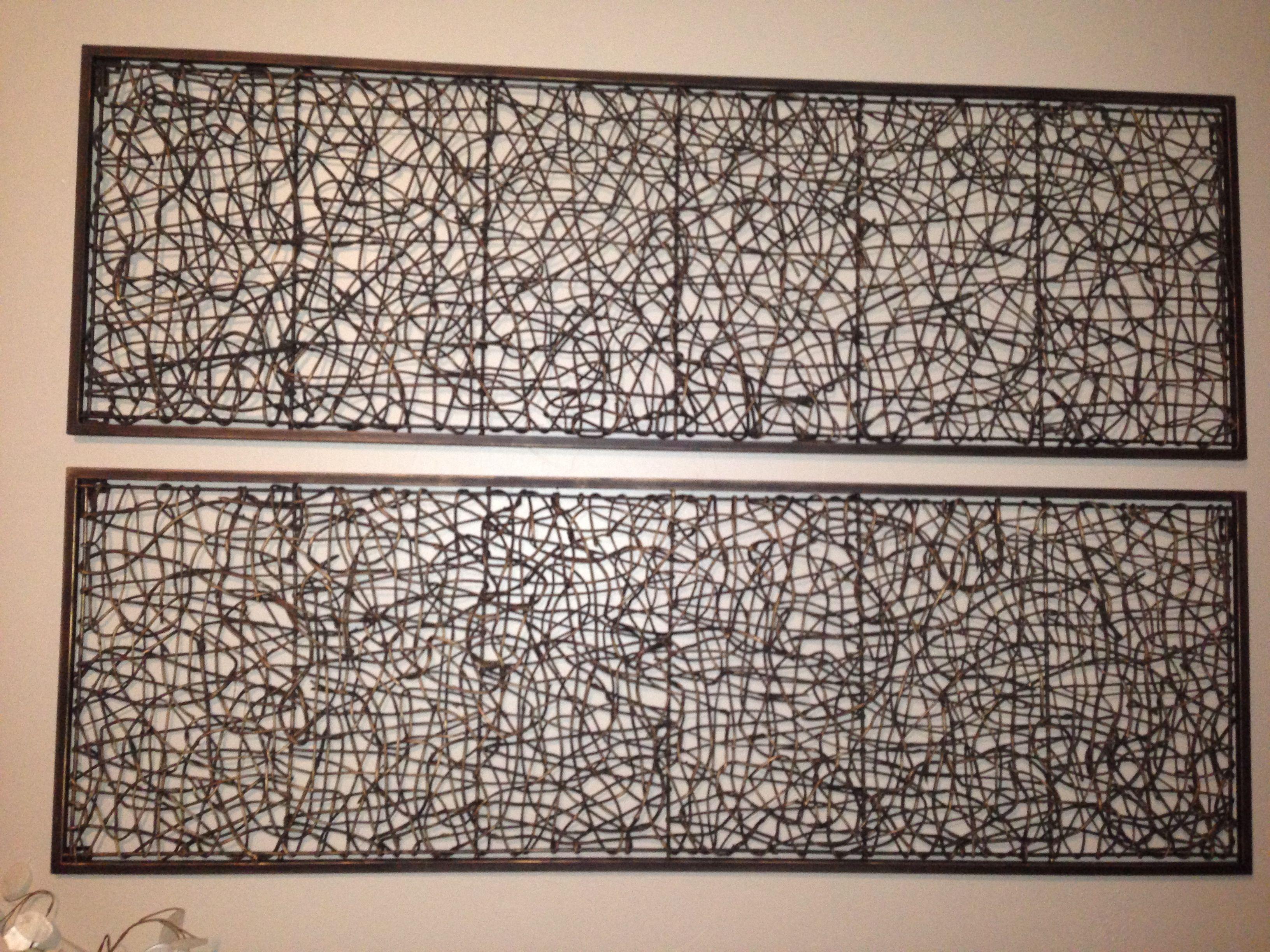 Metal And Rattan Wall Decor Diy Pinterest