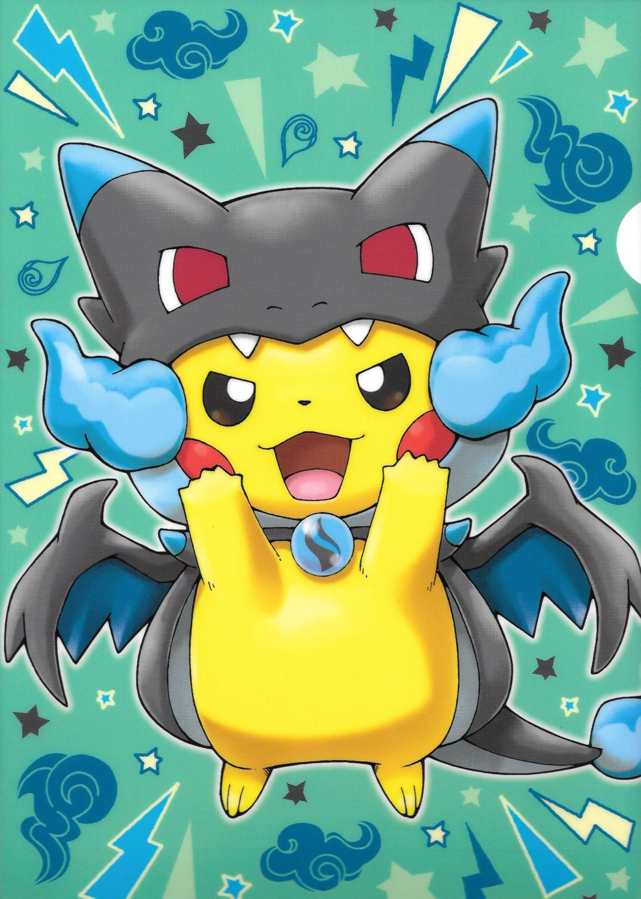 Pikachu mega evolution x