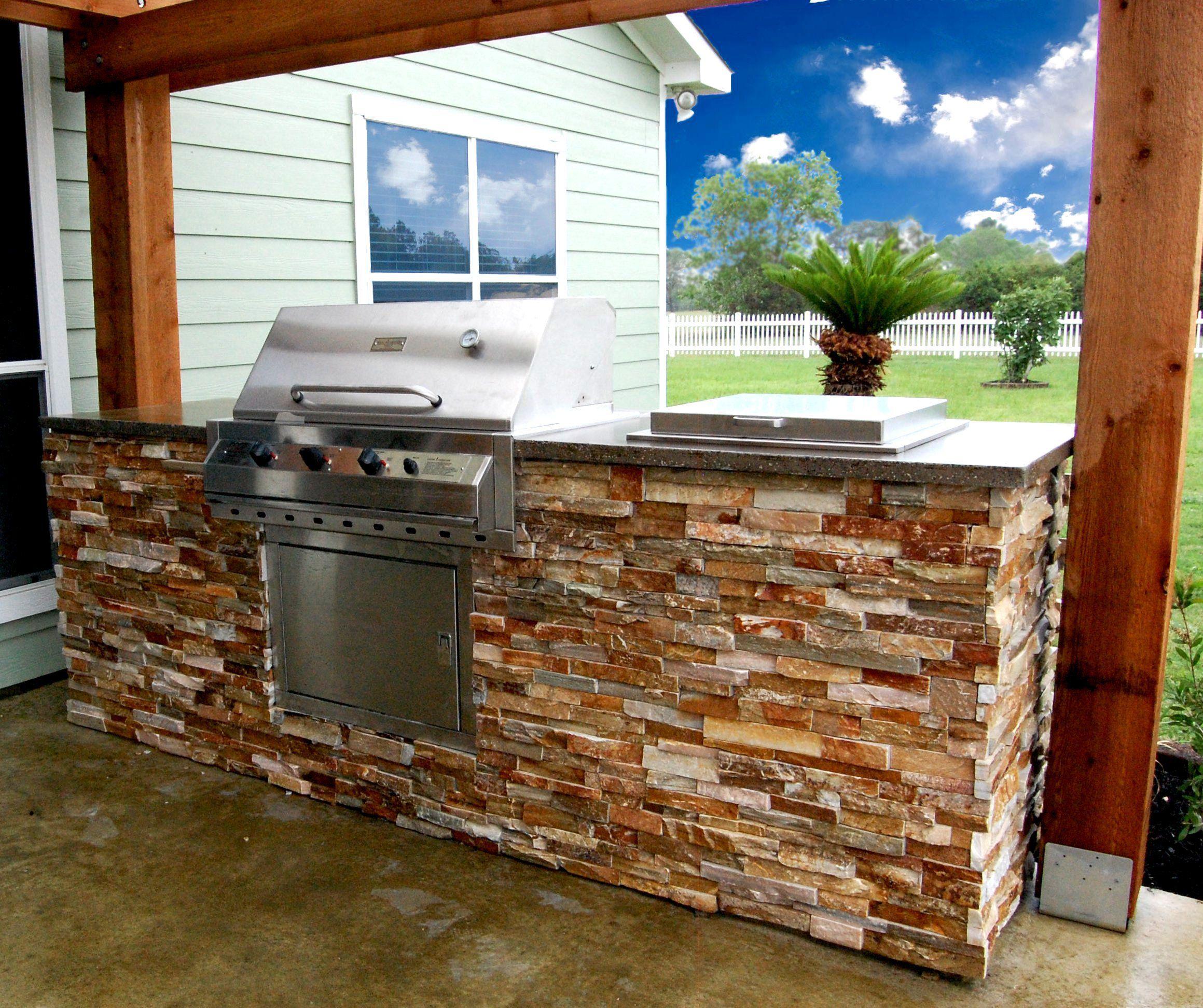 Custom Stone Outdoor Kitchen Custom Stone Masonry