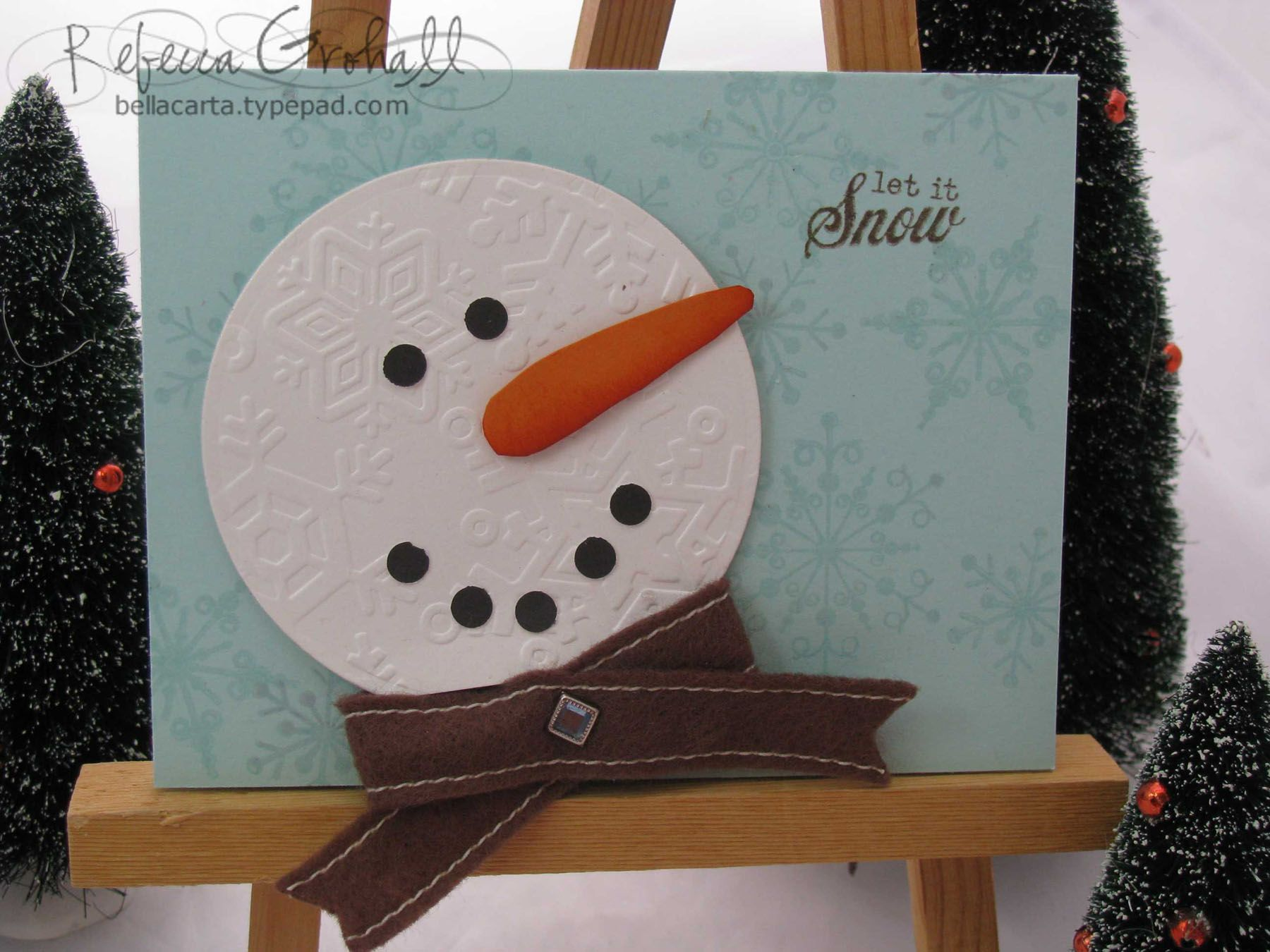 snowman card christmas ideas pinterest