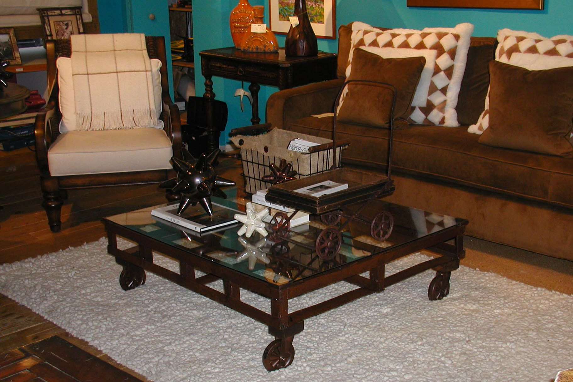Metal Pallet Coffee Table Do It Yourself Pinterest