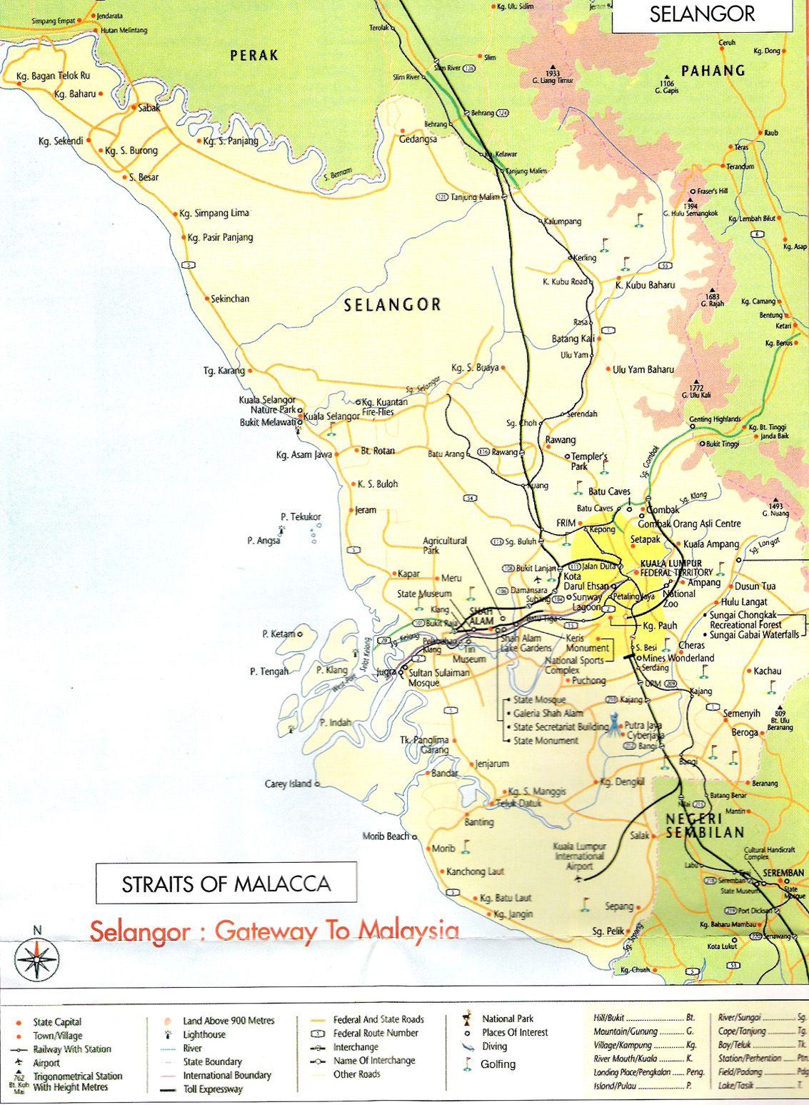 State Of Selangor Malaysia Map Malaysia Wonders Map