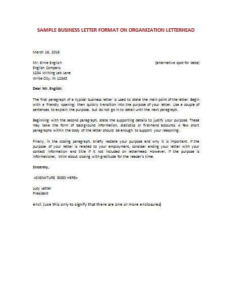 Business letter format letterhead sample free business letter template format sample get accmission Gallery