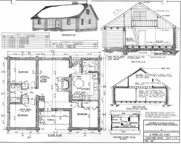 Log Home Plans: 40 Totally Free DIY Log Cabin Floor Plans | cabin ...