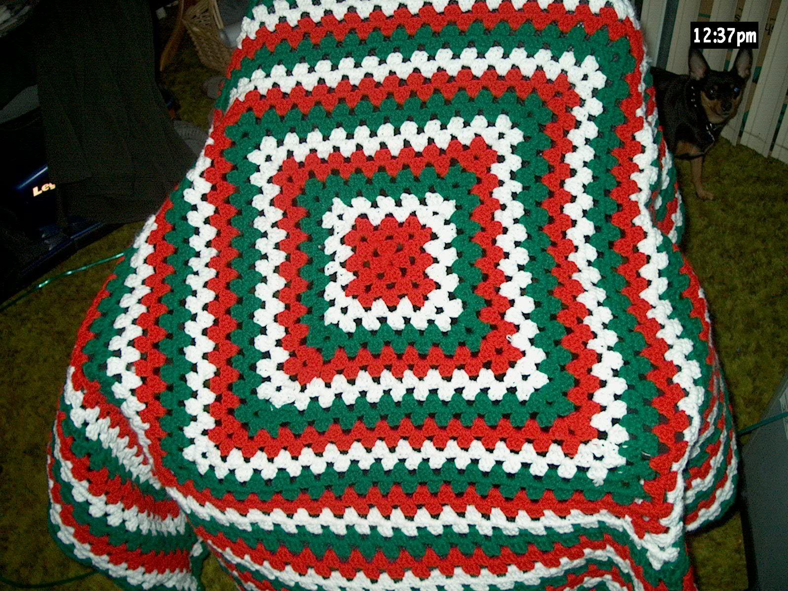 Crochet Afghan Patterns Christmas : I crocheted a Christmas Afghan! christmas crochet ...