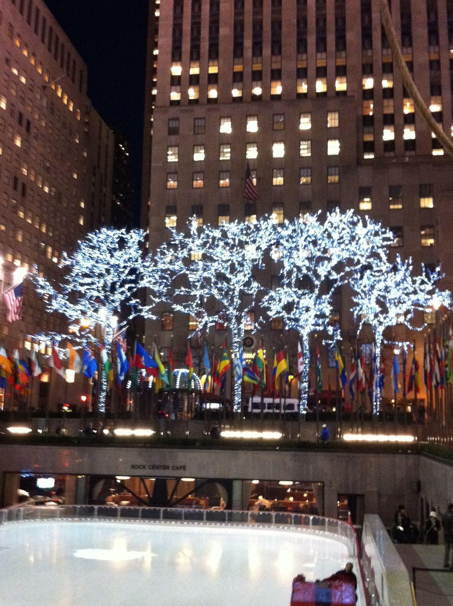 Rockefeller center ice rink destination new york pinterest