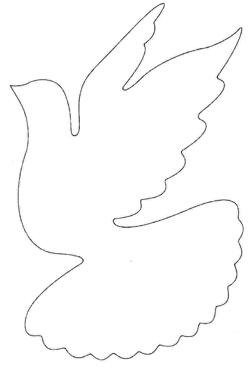 Голубь из бумаги шаблоны для вырезания