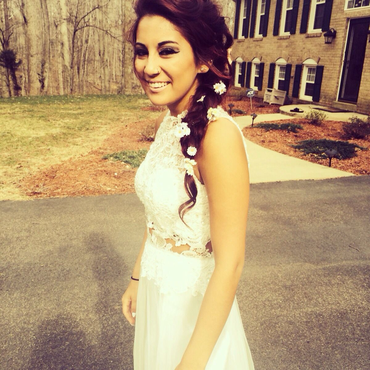 White Lace Prom Dress Pinterest 41