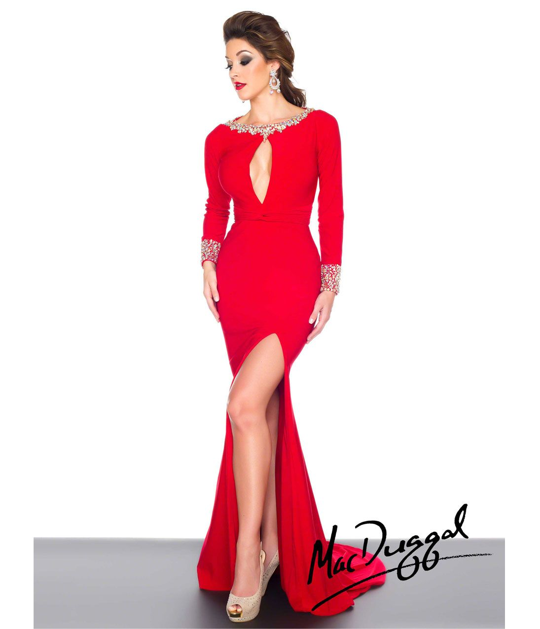 Red dress long sleeve - Wine Red Long Sleeve Polyester Plain ...