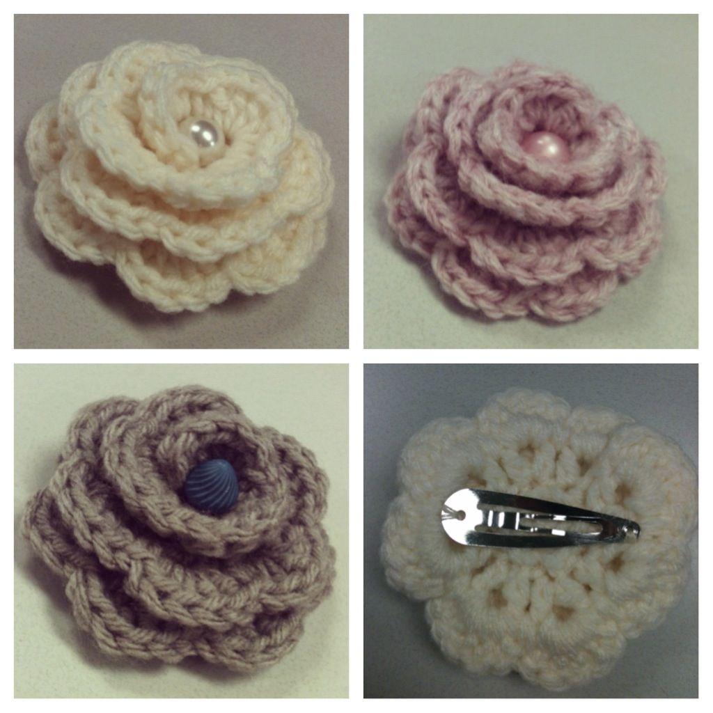 Crochet Hair Clips Pinterest : Crochet hair clips by SaraBella Boutique Crochet Pinterest