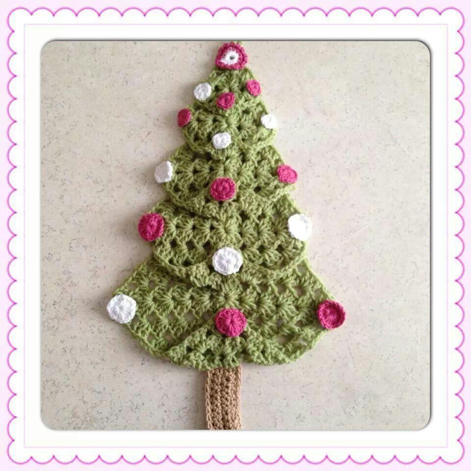 Granny Square tree Crochet Pinterest