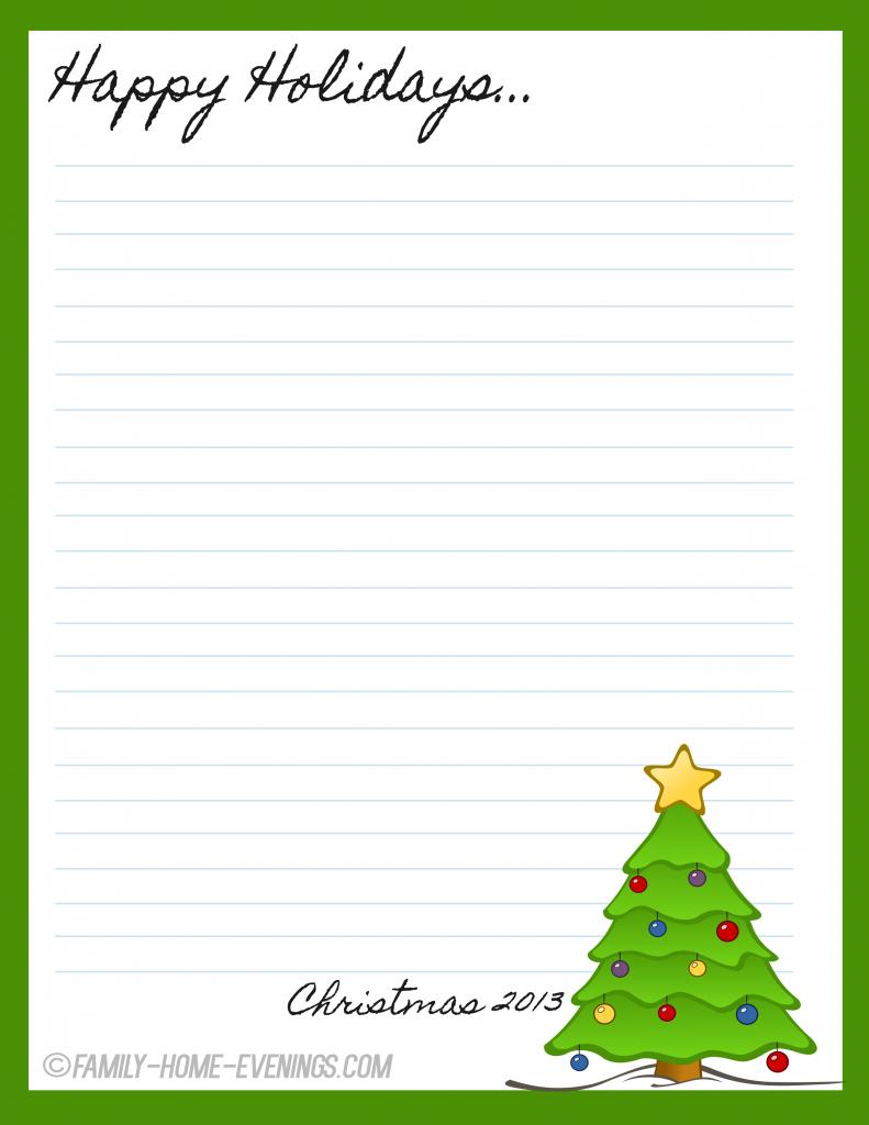family home evening christmas stationary free printable christmas tree copy copy free - Free Printable Christmas Stationary