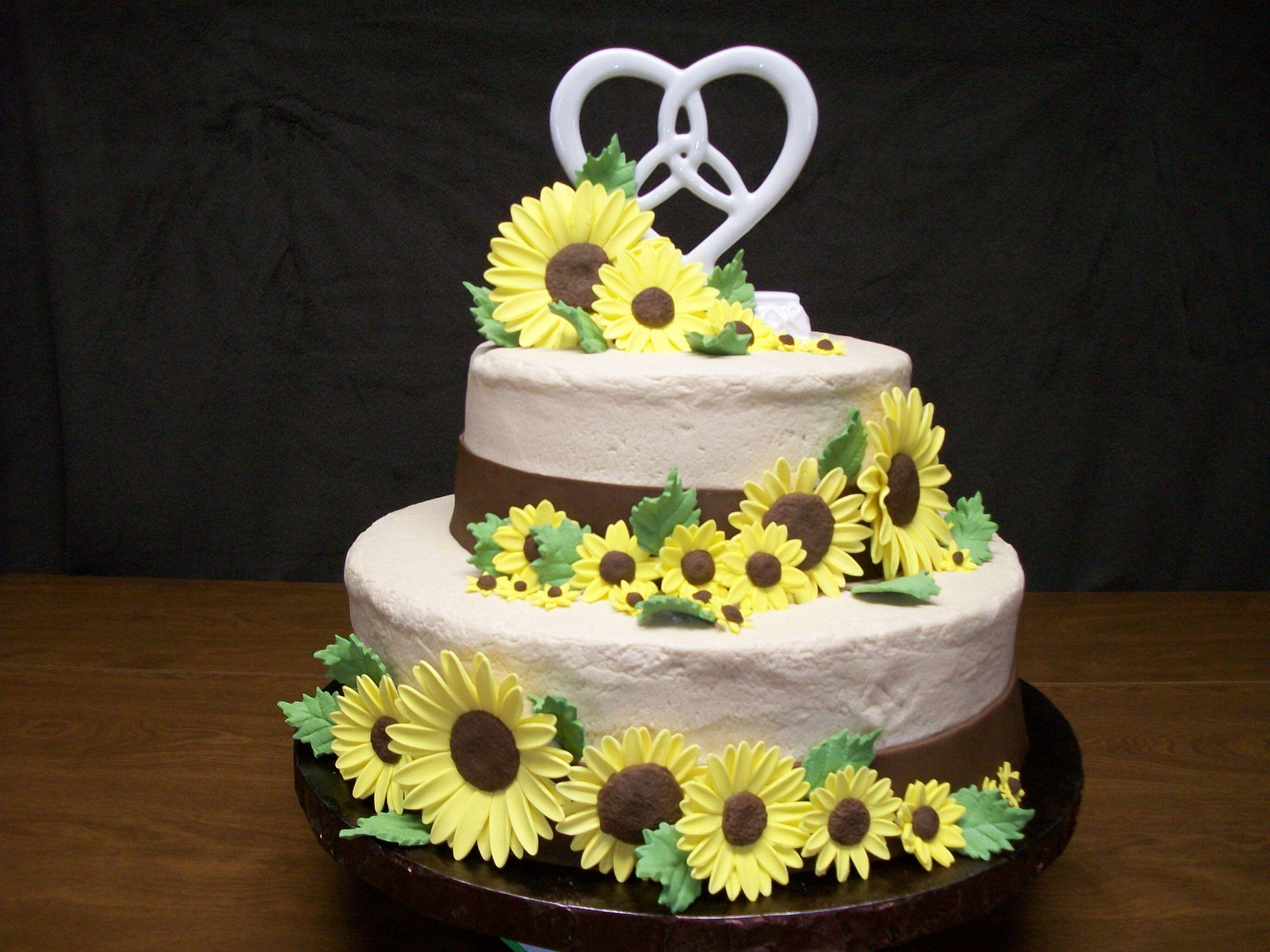 sunflower wedding cake Cakes