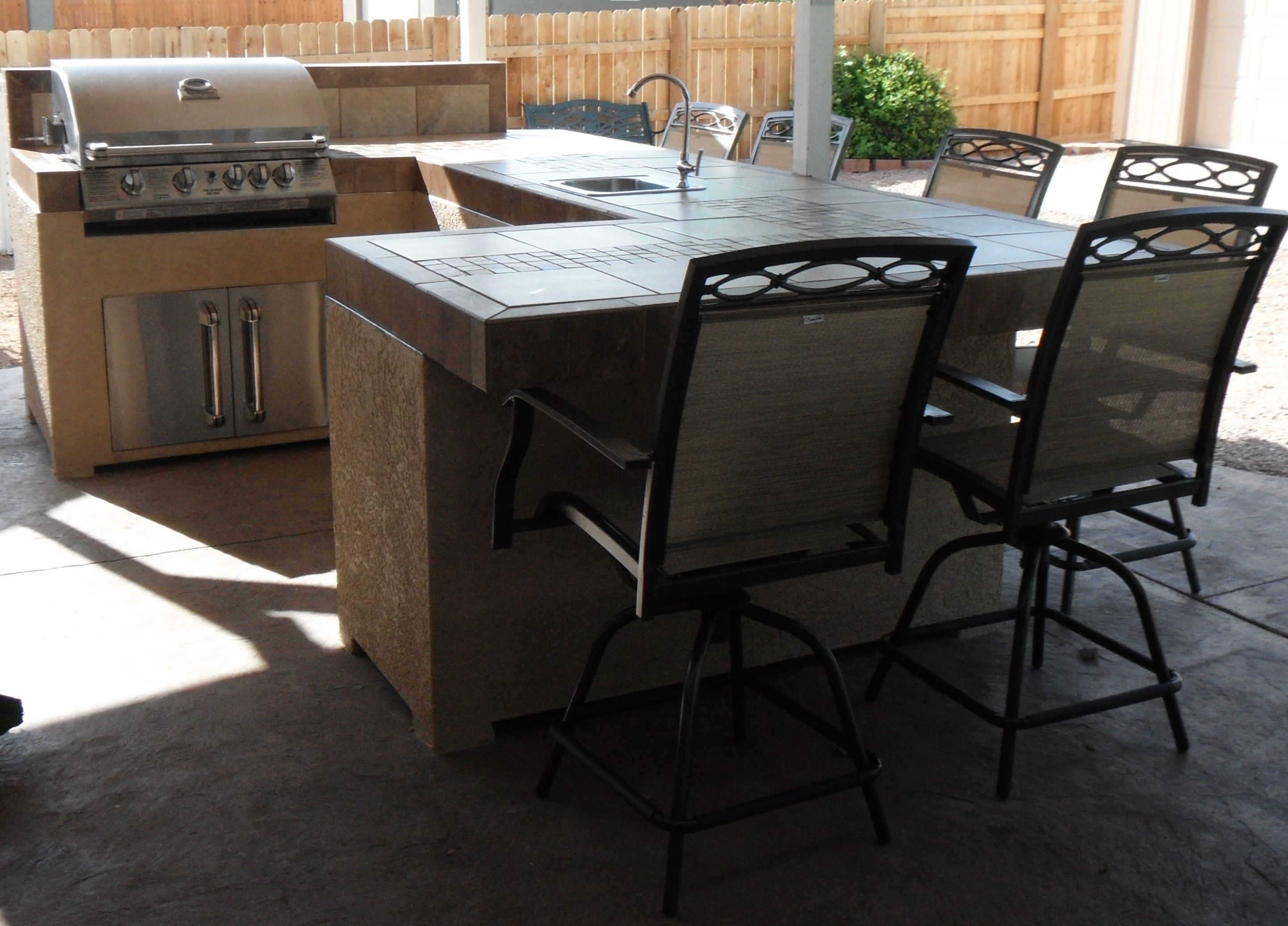 our diy outdoor kitchen outside pinterest