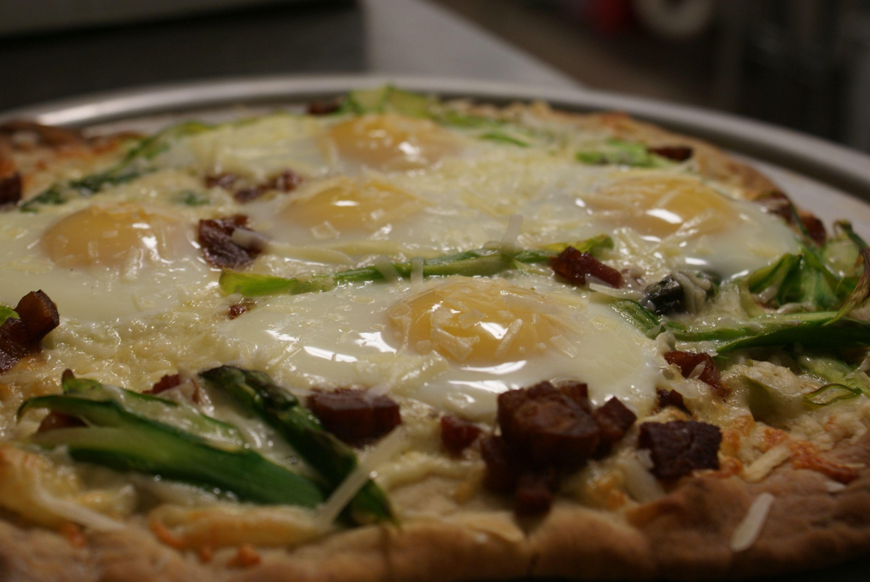Shaved asparagus pizza | Erik's food | Pinterest