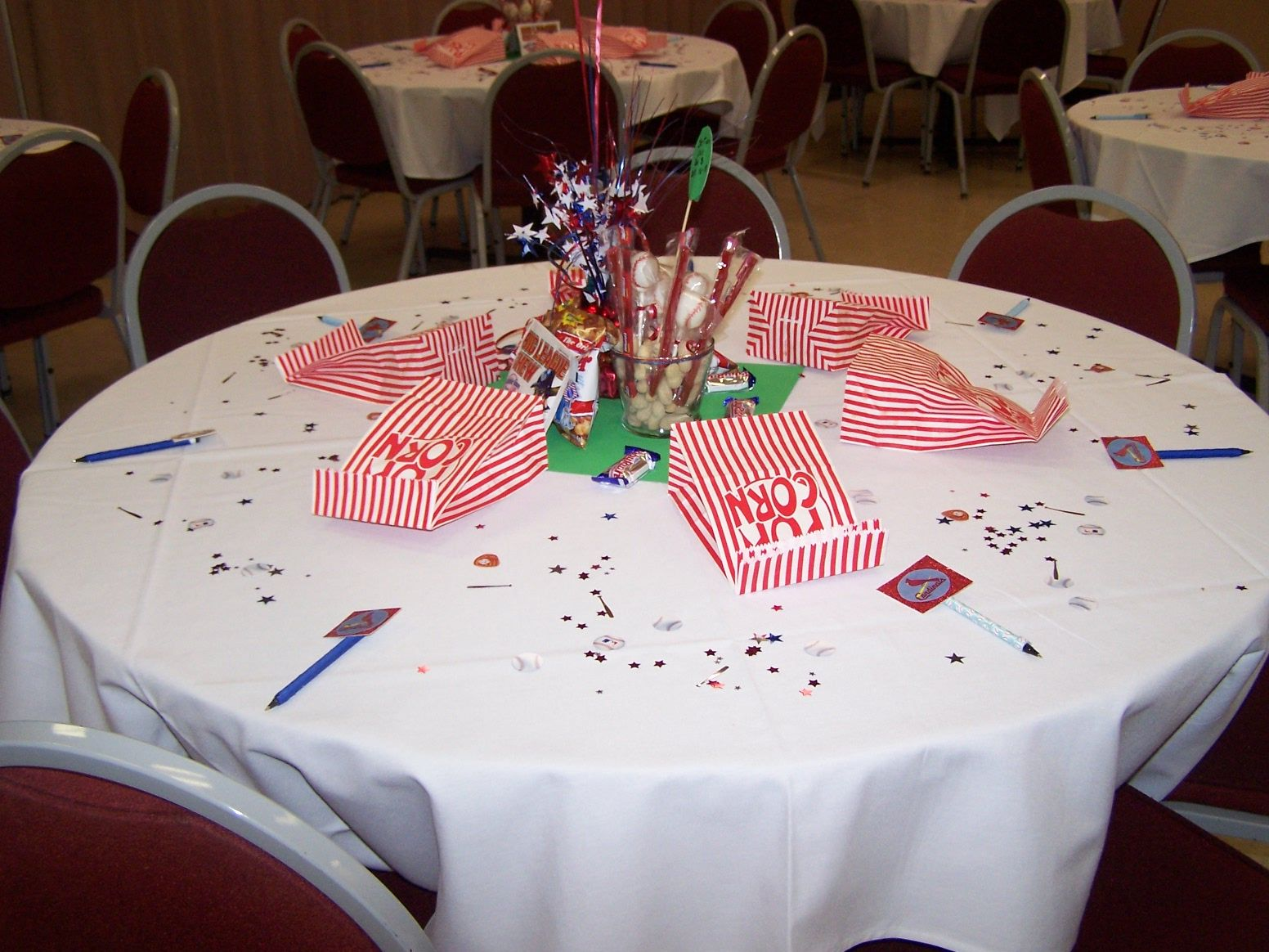 baseball themed baby shower tables baby shower ideas pinterest