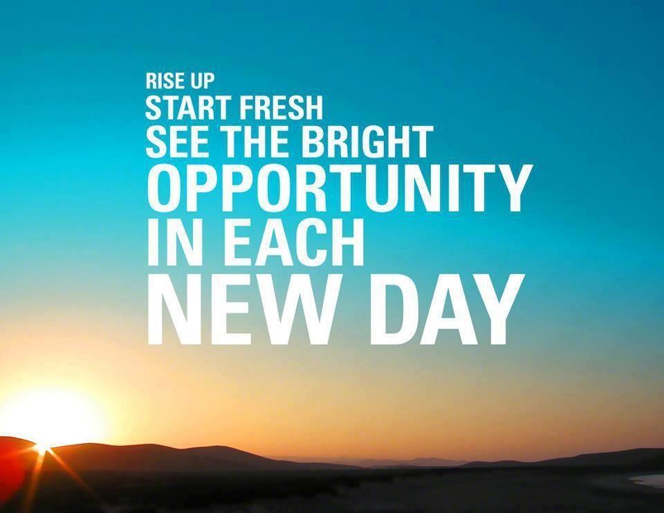 New day, new opportunities Running Pinterest