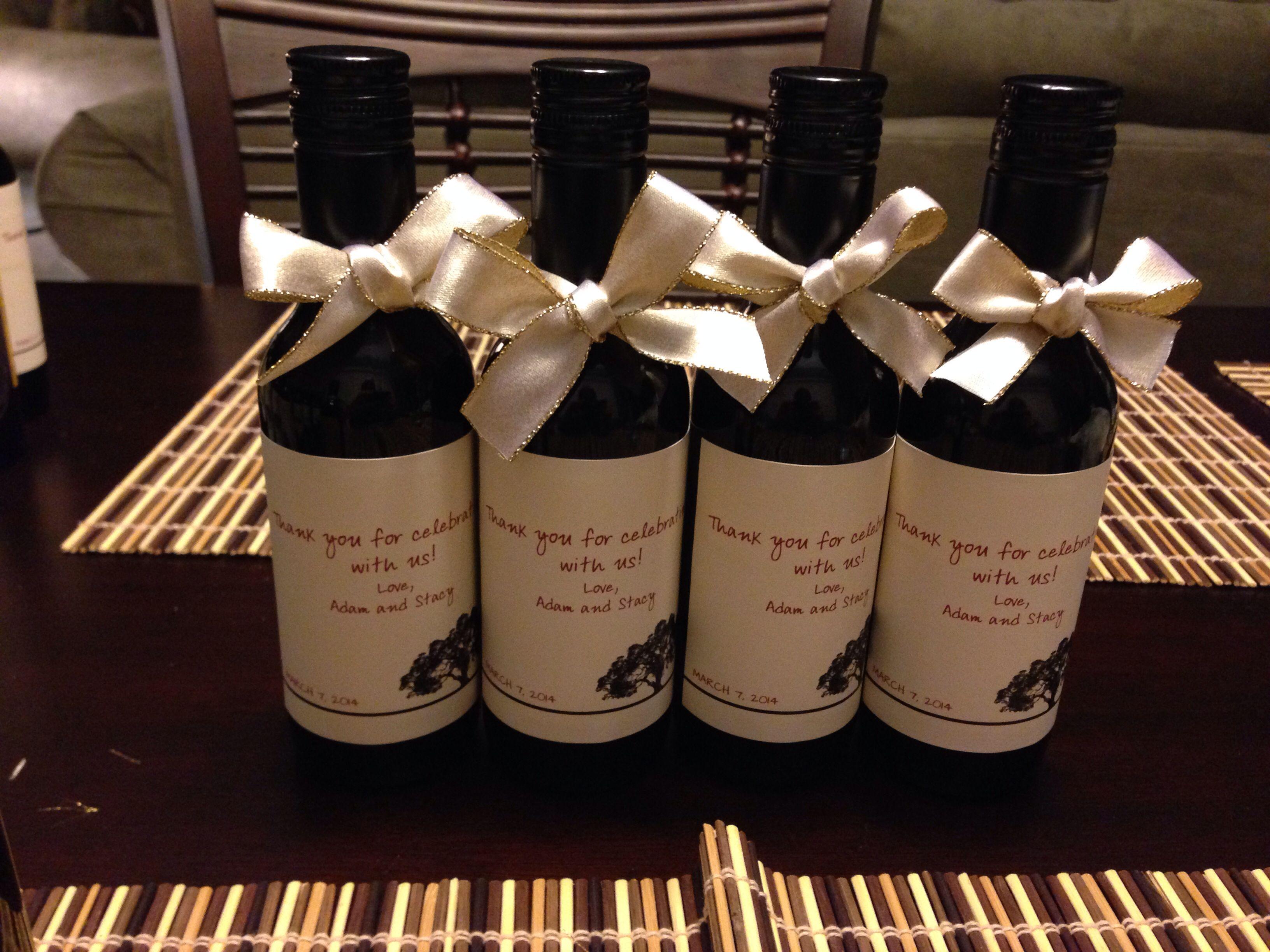Mini wine bottle favors wedding pinterest for Mini wine bottle wedding favors