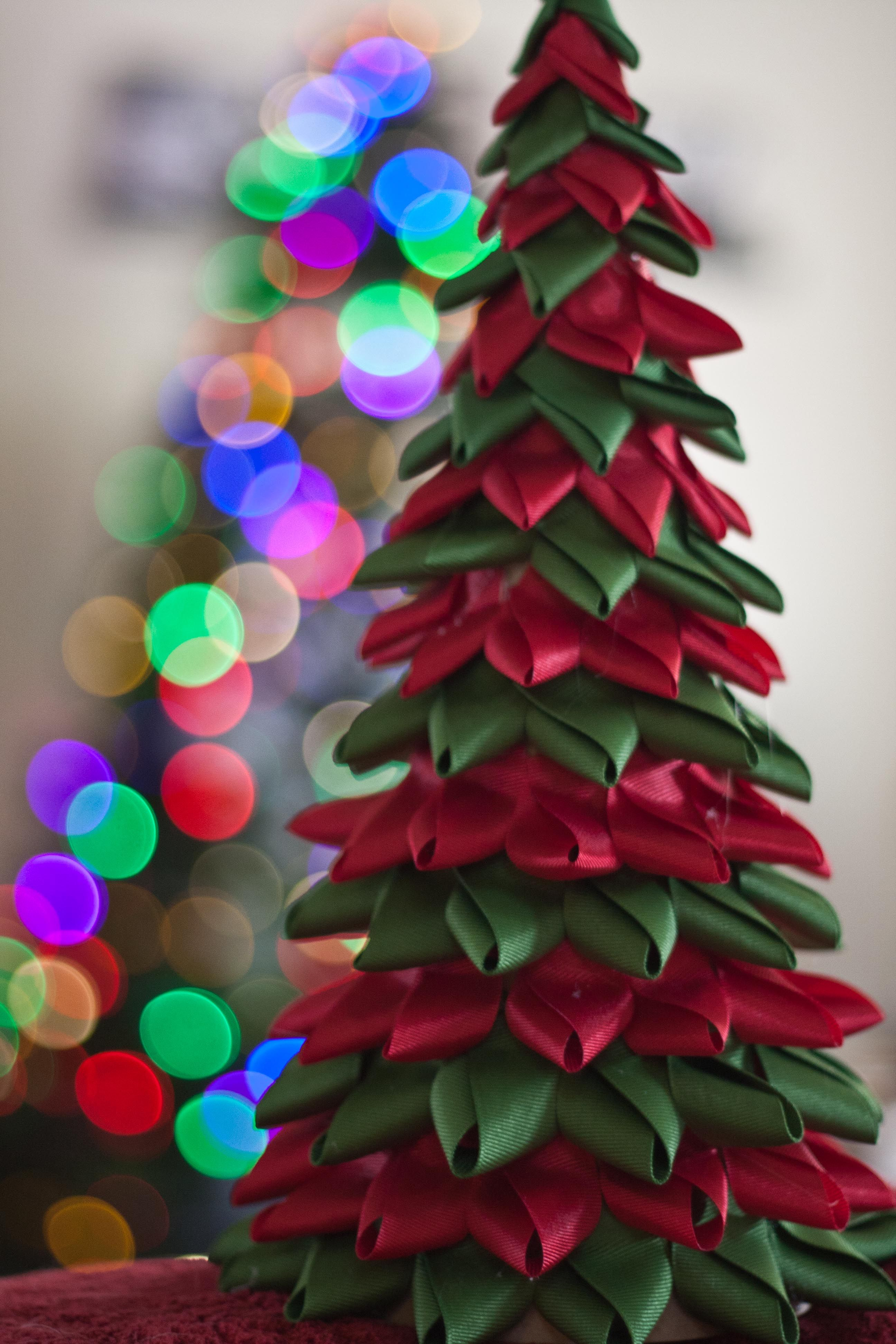 Ribbon tree christmas craft pinterest - Christmas tree with ribbons ...