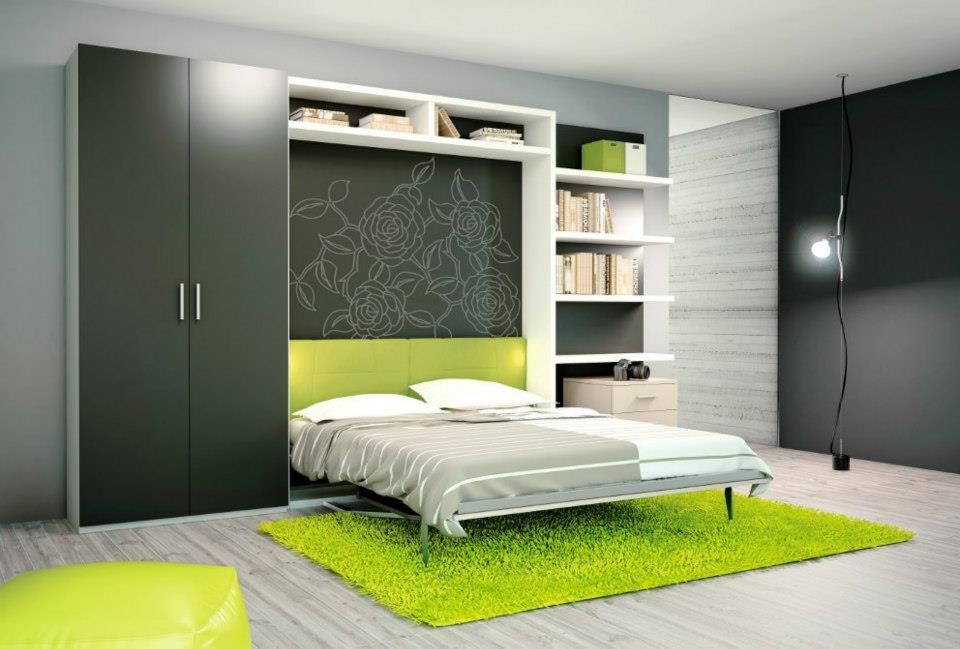 Hidden bed small spaces pinterest - Hidden beds for small spaces ...