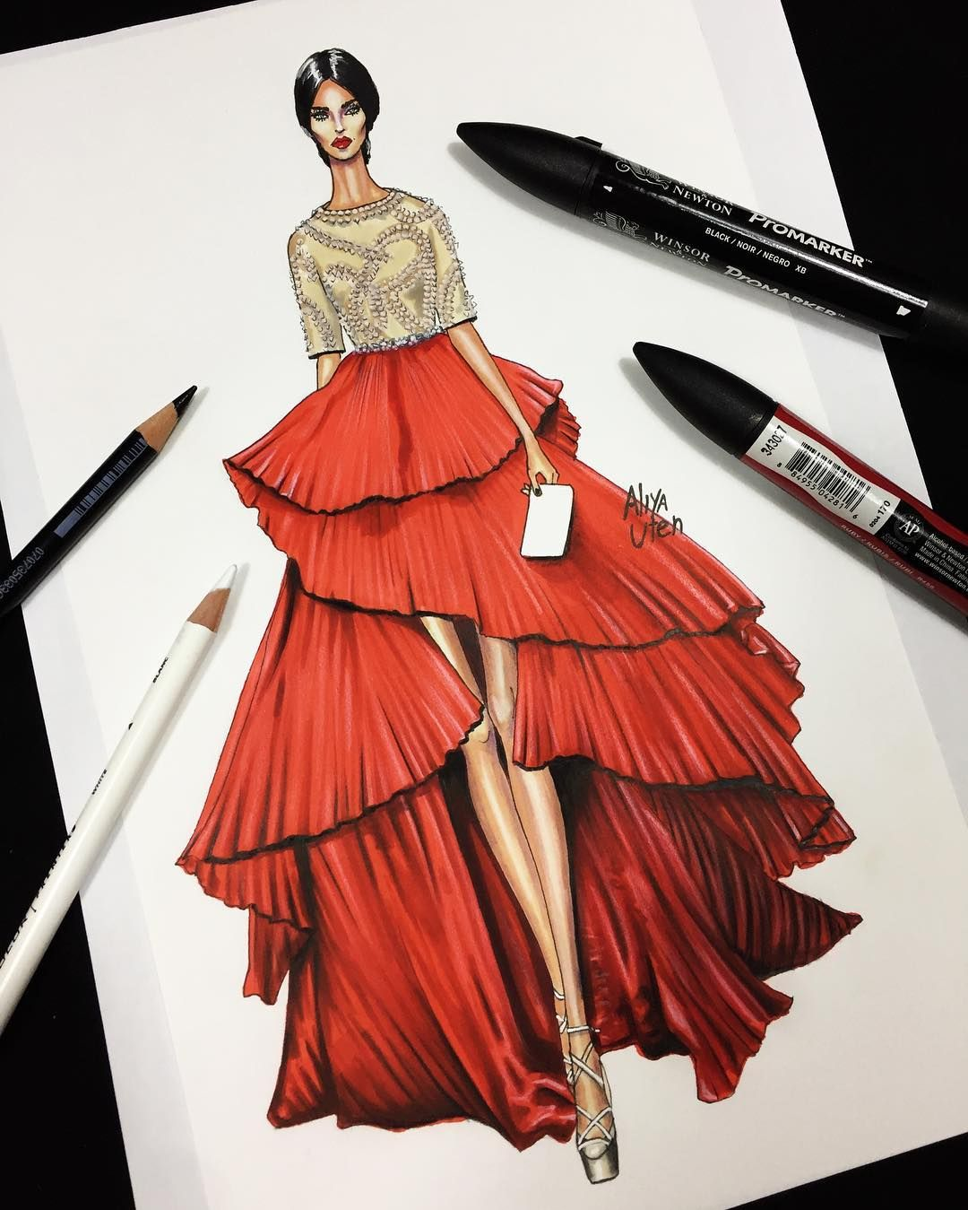 Fashion sketches step by 37