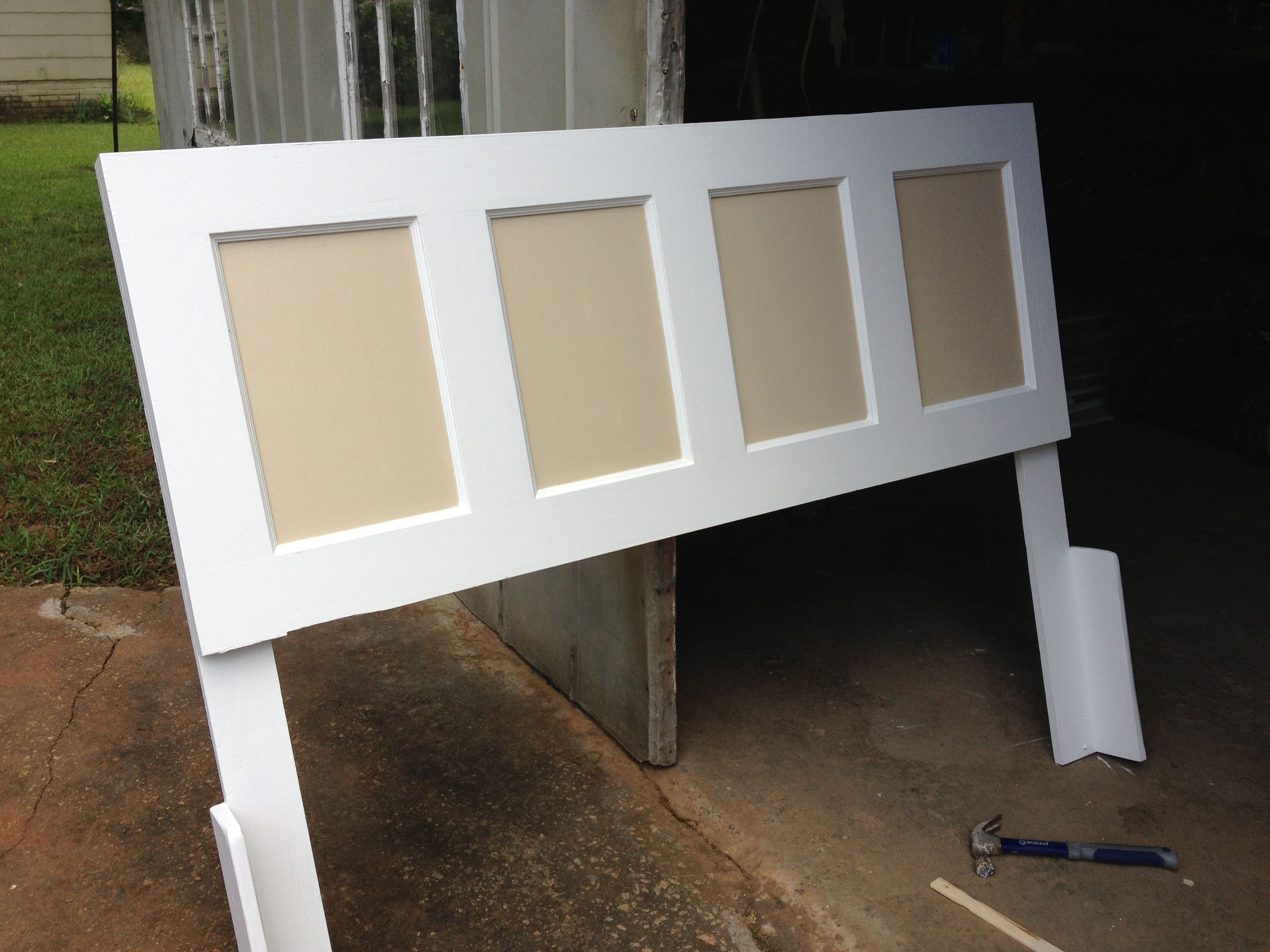 Diy headboard made from old door for the home pinterest - Headboard made from old door ...