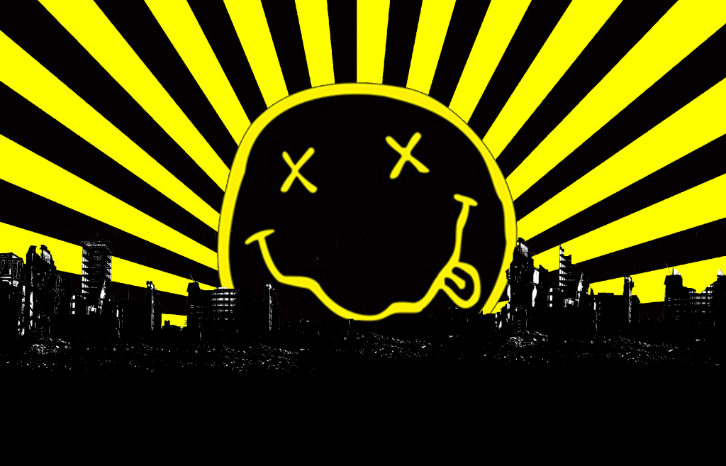 Nirvana Logo Wallpapers Wallpaper Cave Kurt Cobain And