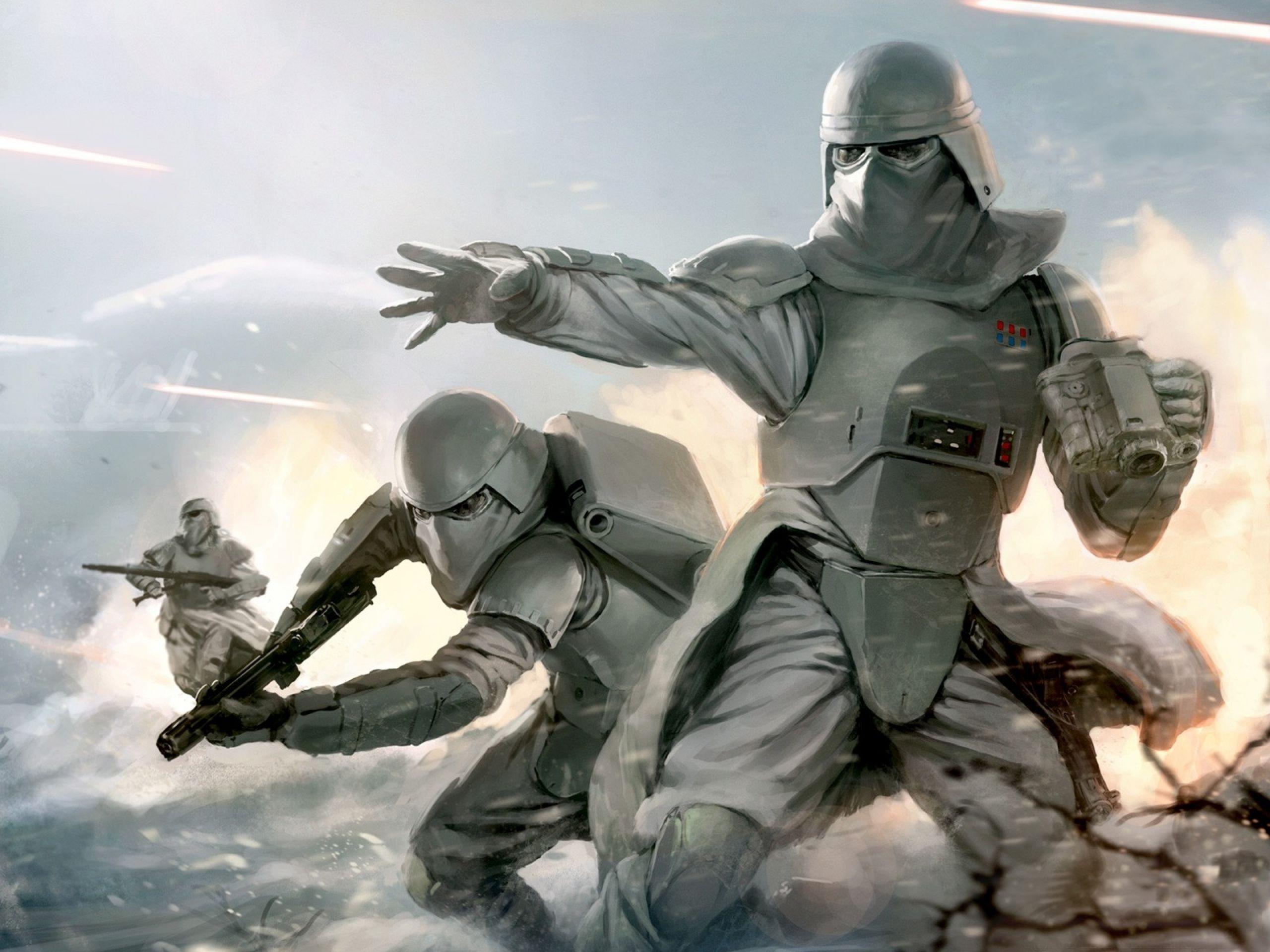 Stormtroopers @ Hoth Battle | Star Wars | Pinterest