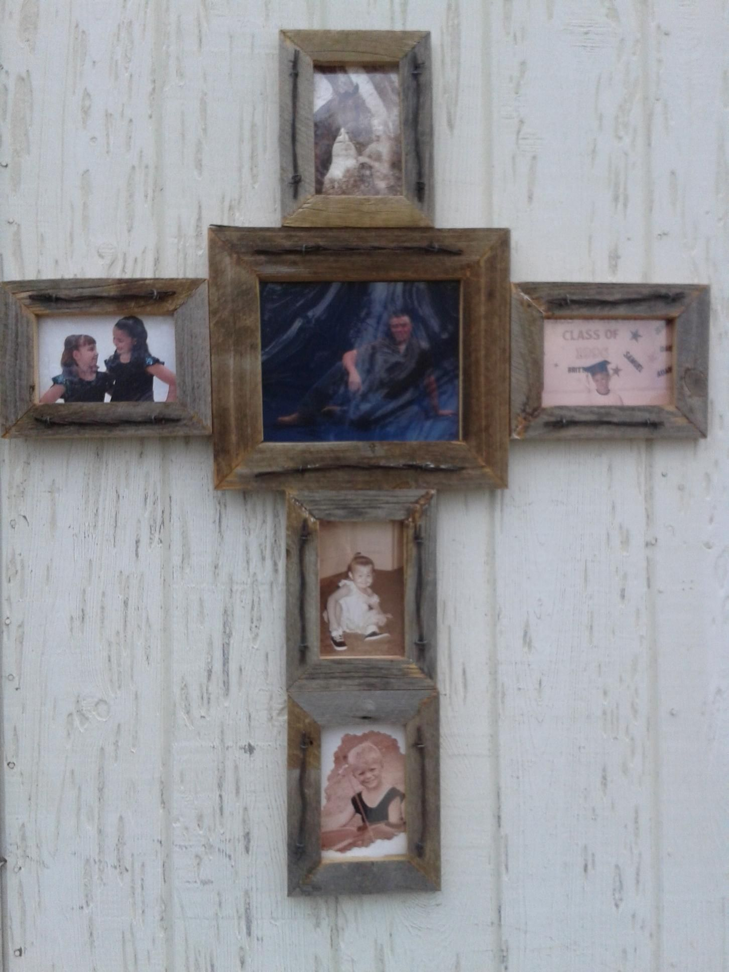 Diy Old Barn Wood Picture Frame Diy Pinterest