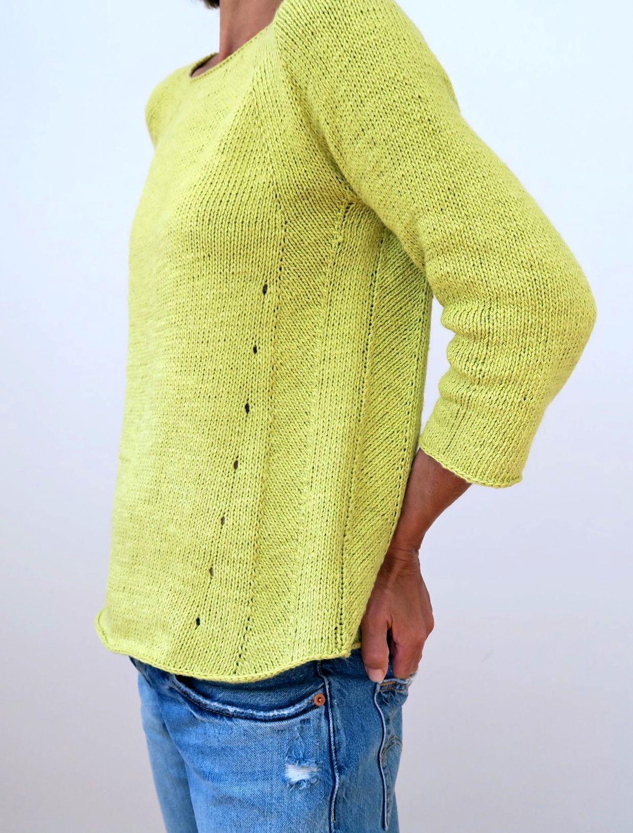 Пуловер без единого шва