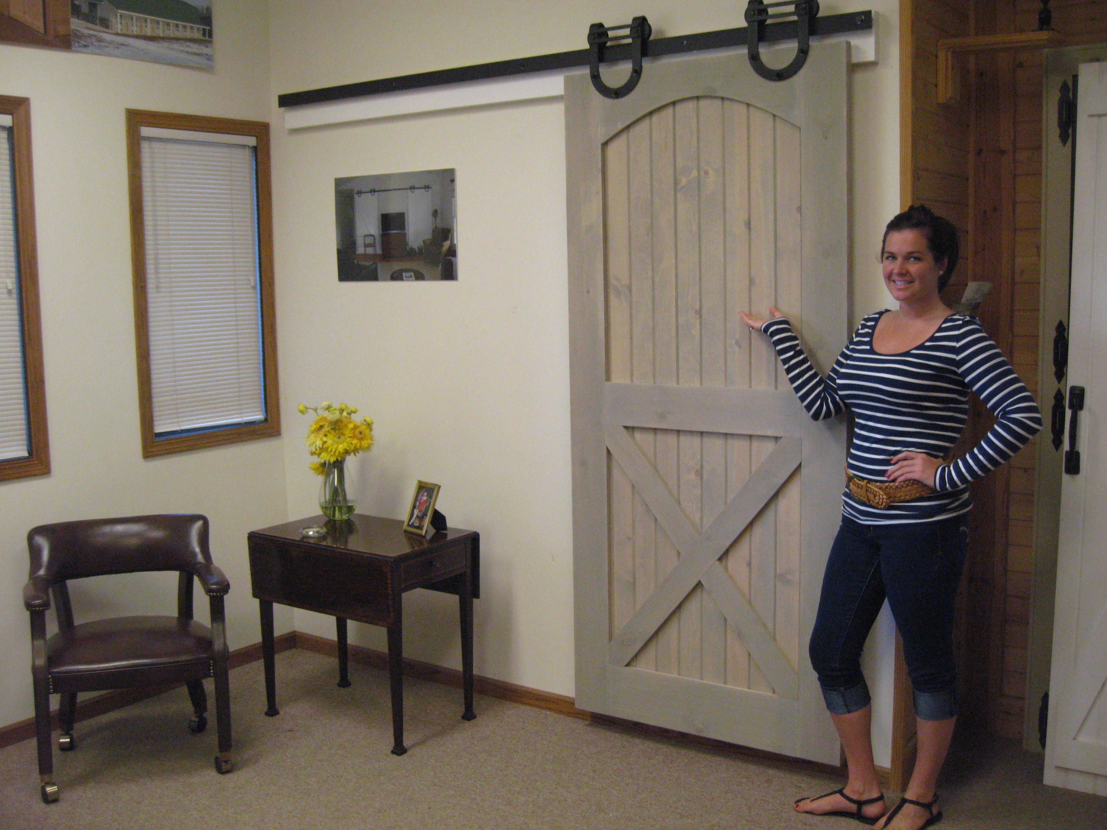 Interior barn door my junk file pinterest for Inside barn doors