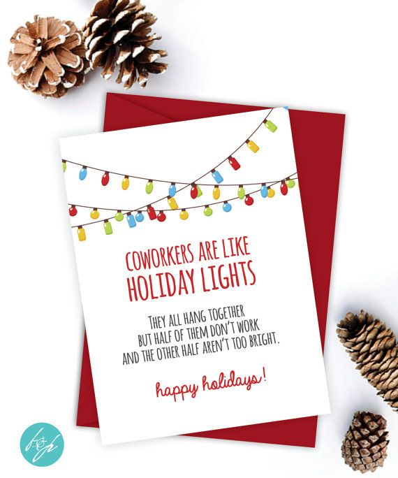 Coworker Card Funny Christmas Card Christmas Card Xmas Card Quirky Snarky Greeting Card Just