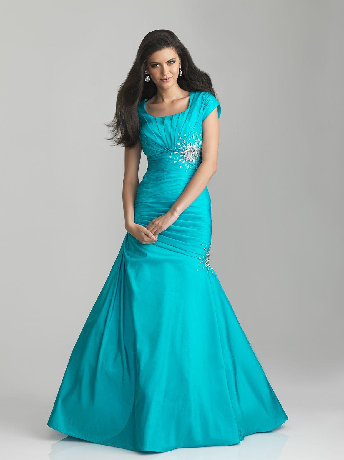 Modest lds prom dresses discount evening dresses for Modest wedding dresses seattle