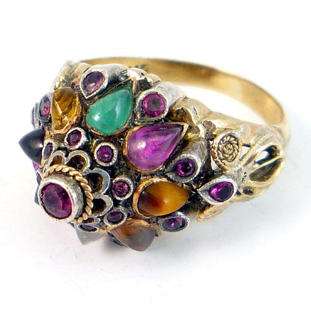 vintage princess mughal ring bling bling
