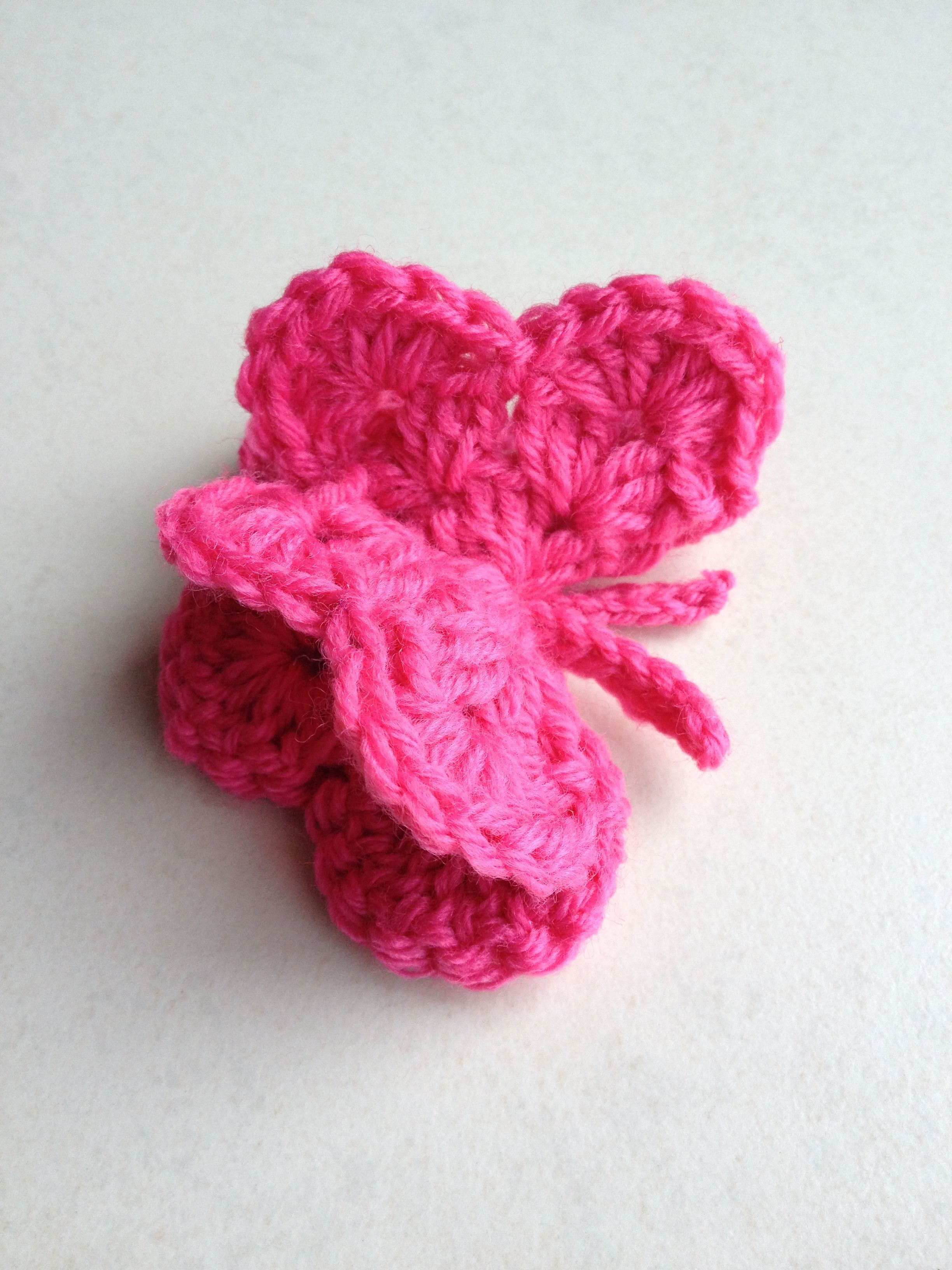 Crochet Butterfly Crafty Inspiration DIY & Crochet Pinterest