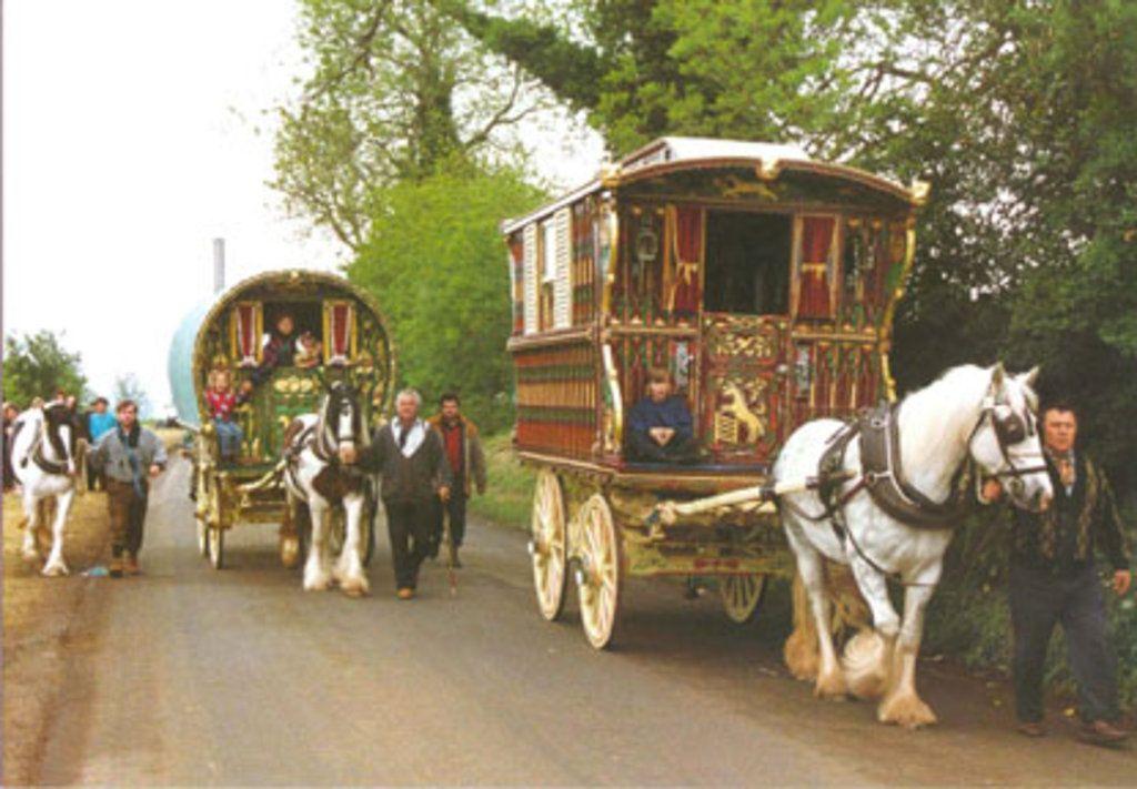 Wonderful Gypsies Camped At Marlborough College In Wiltshire In 2012 Photo